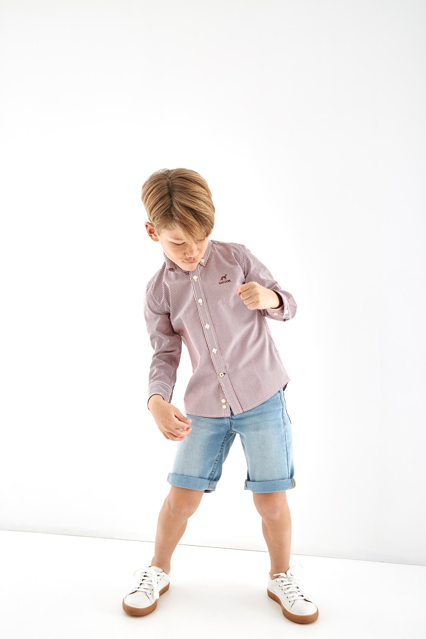 Shirt Red Casual Boy