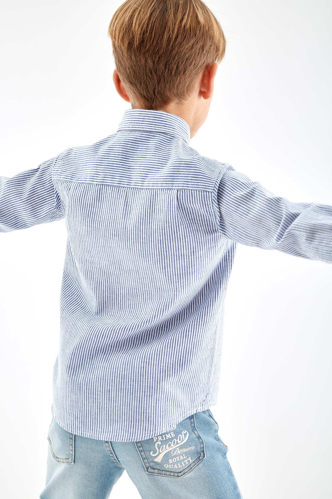 Shirt Blue Casual Boy