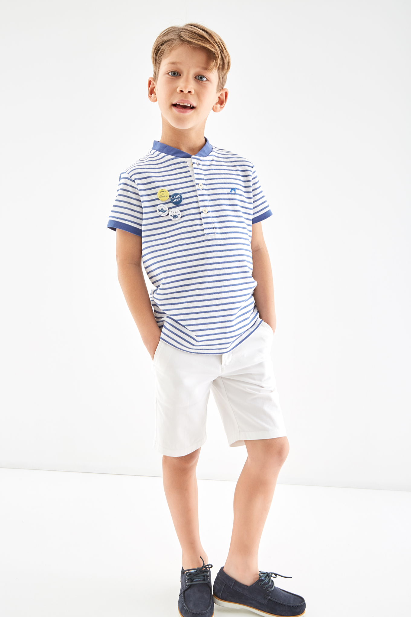 Bermuda White Casual Boy