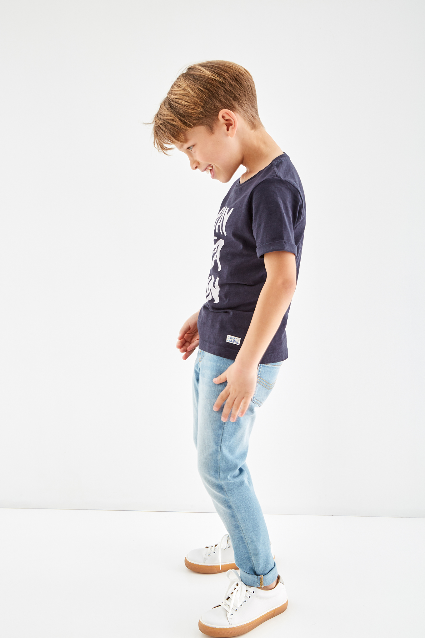 T-Shirt Azul Escuro Sport Rapaz