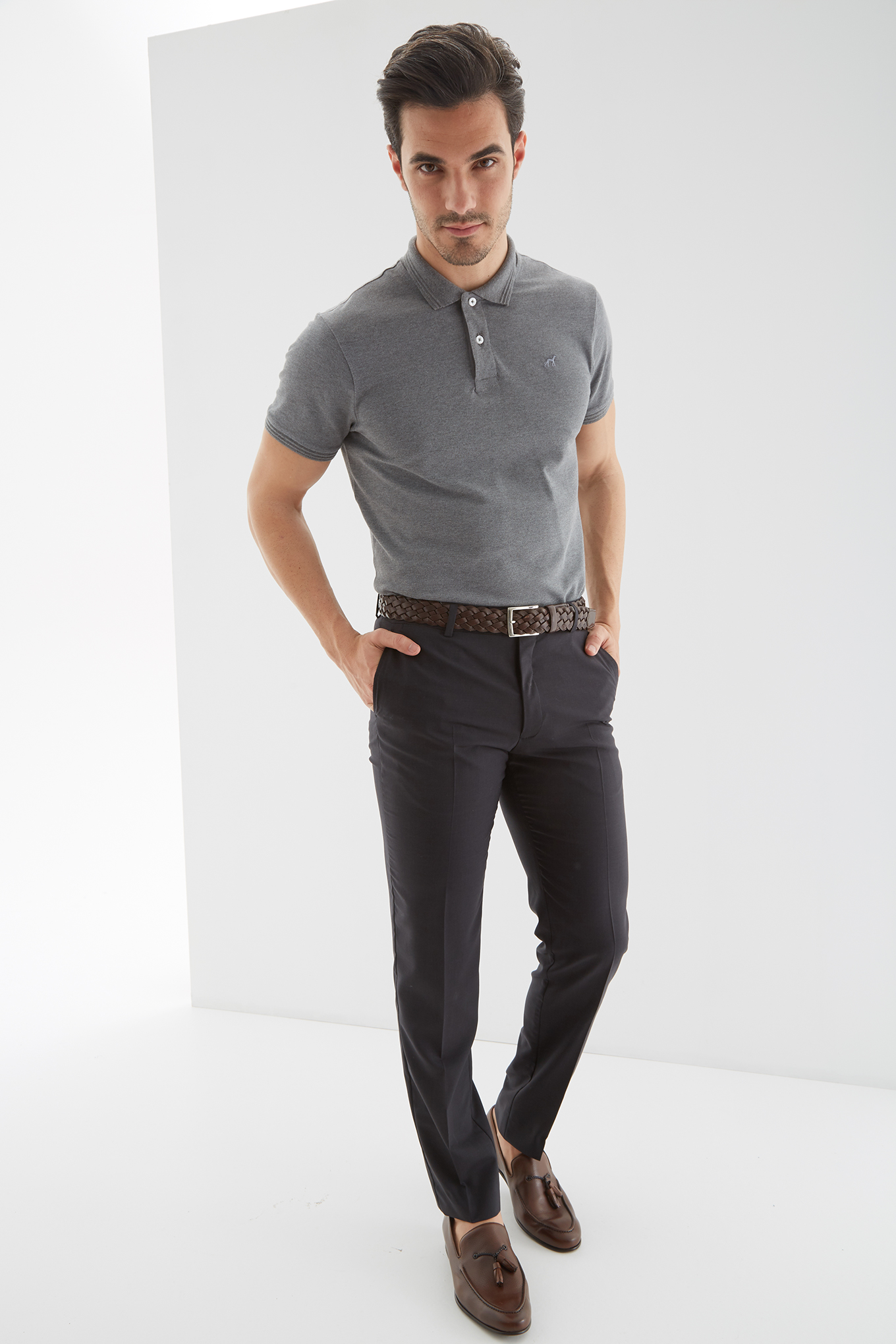 Trousers Dark Grey Classic Man