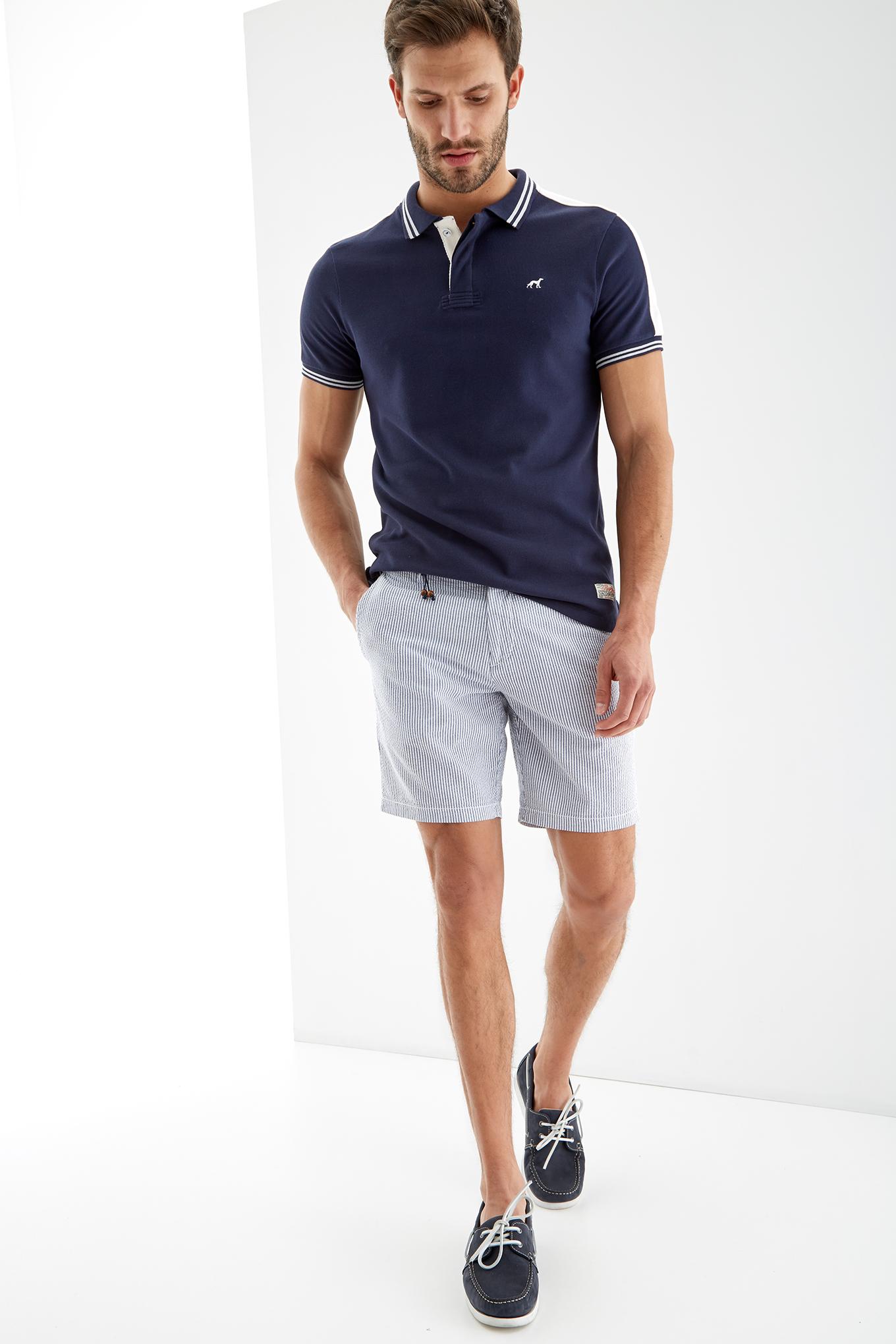 Bermuda Azul Sport Homem