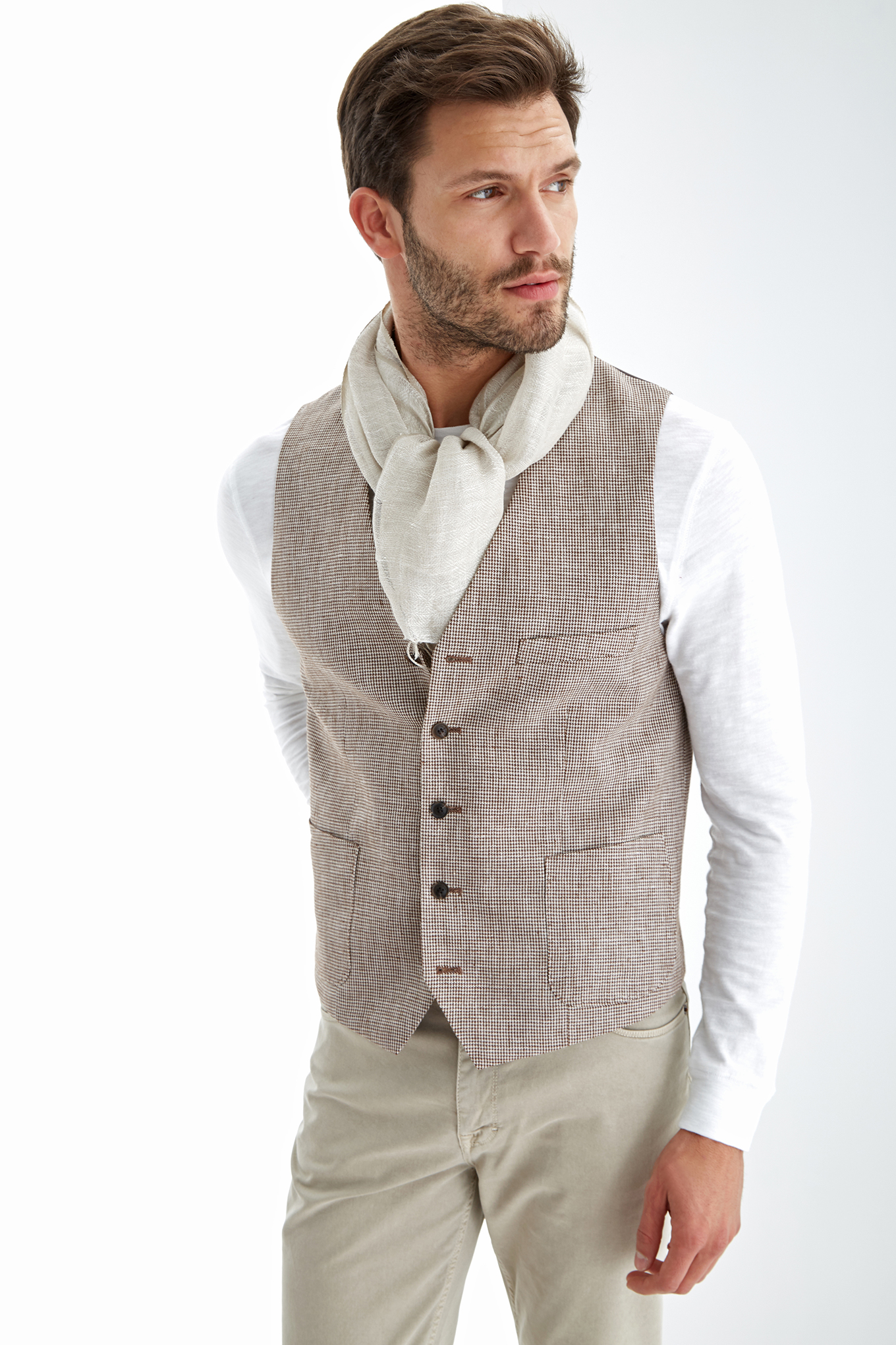 Waist Coat Brown Classic Man