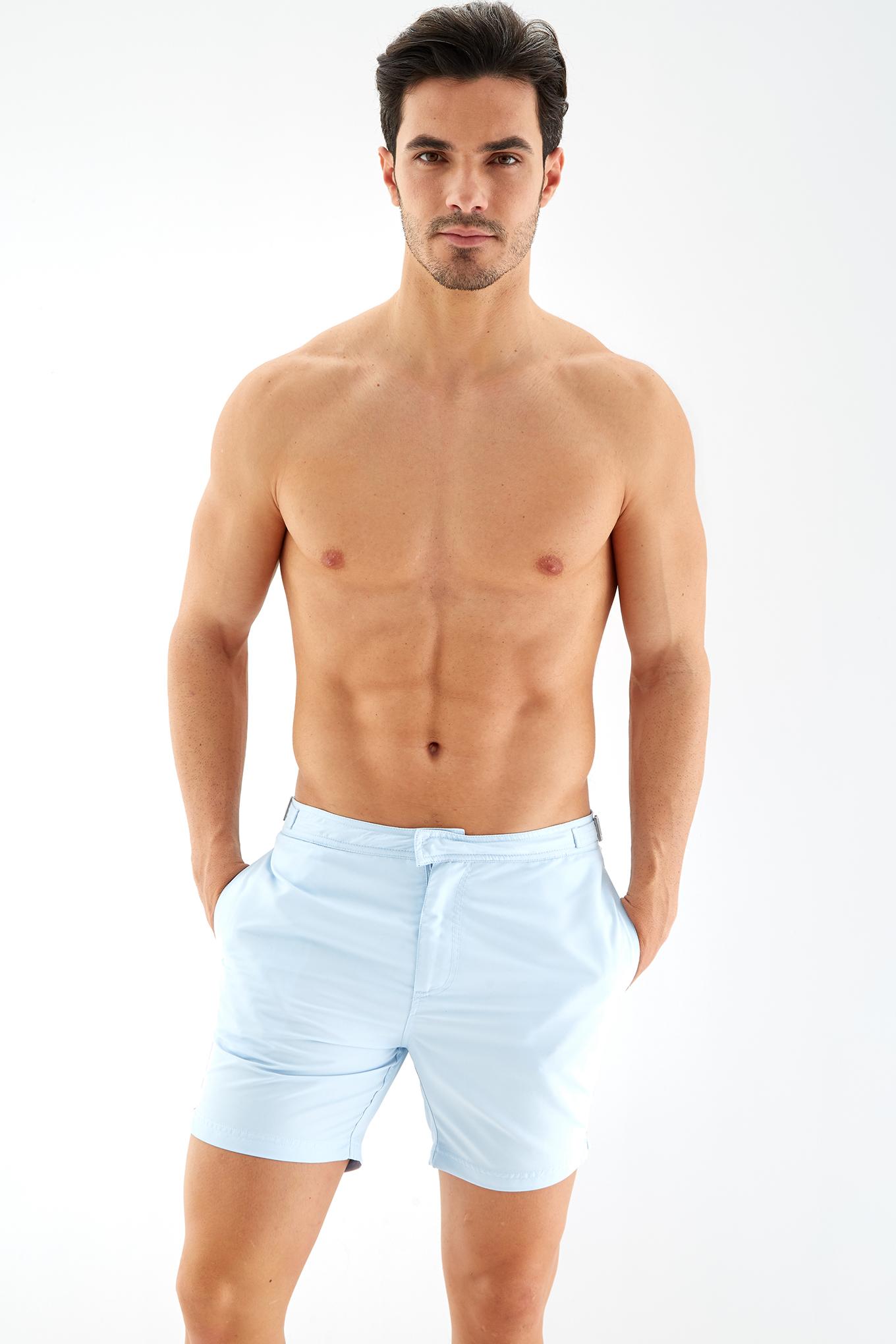Beachwear Shorts Light Blue Sport Man