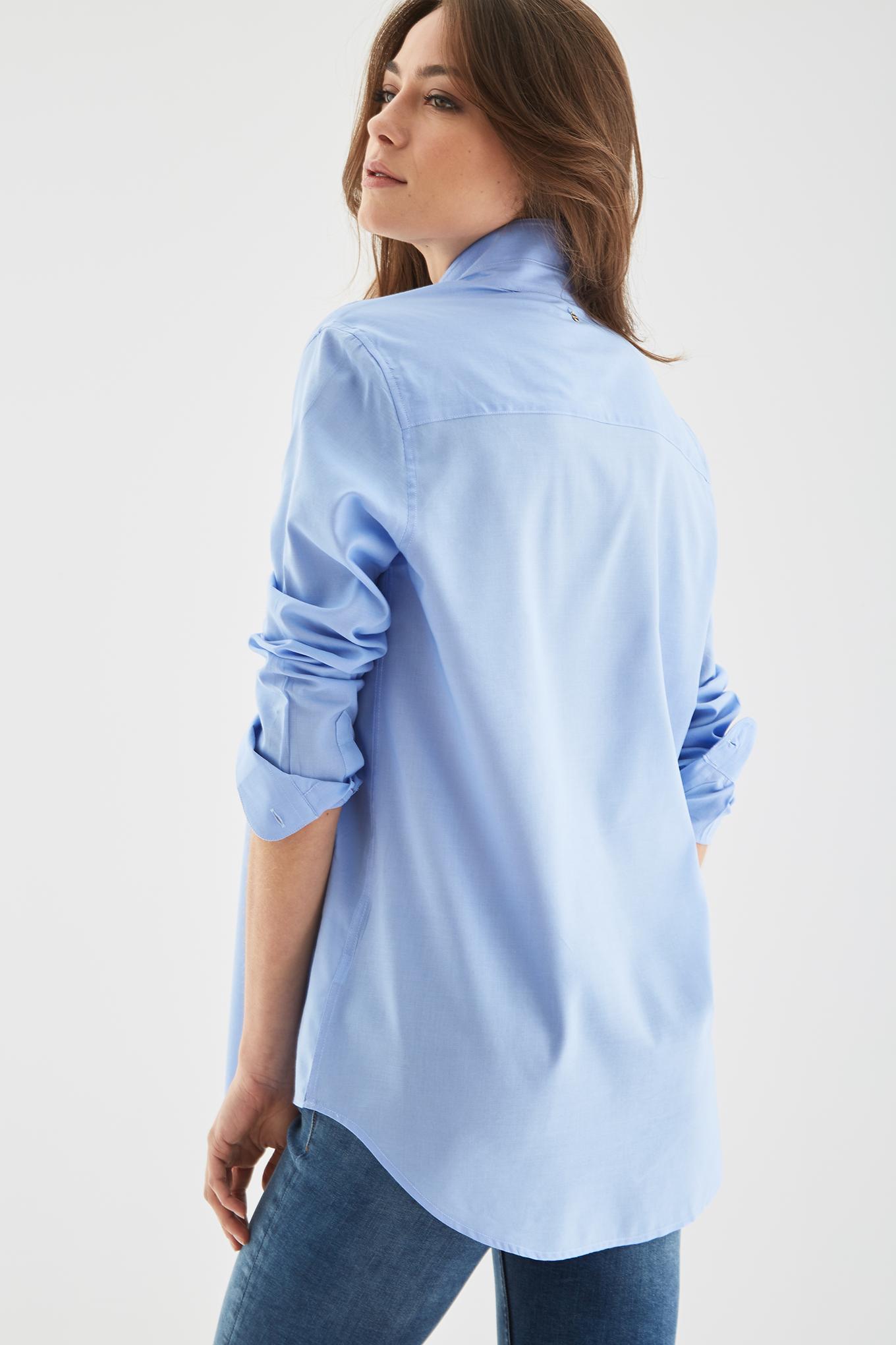 Shirt Medium Blue Classic Woman