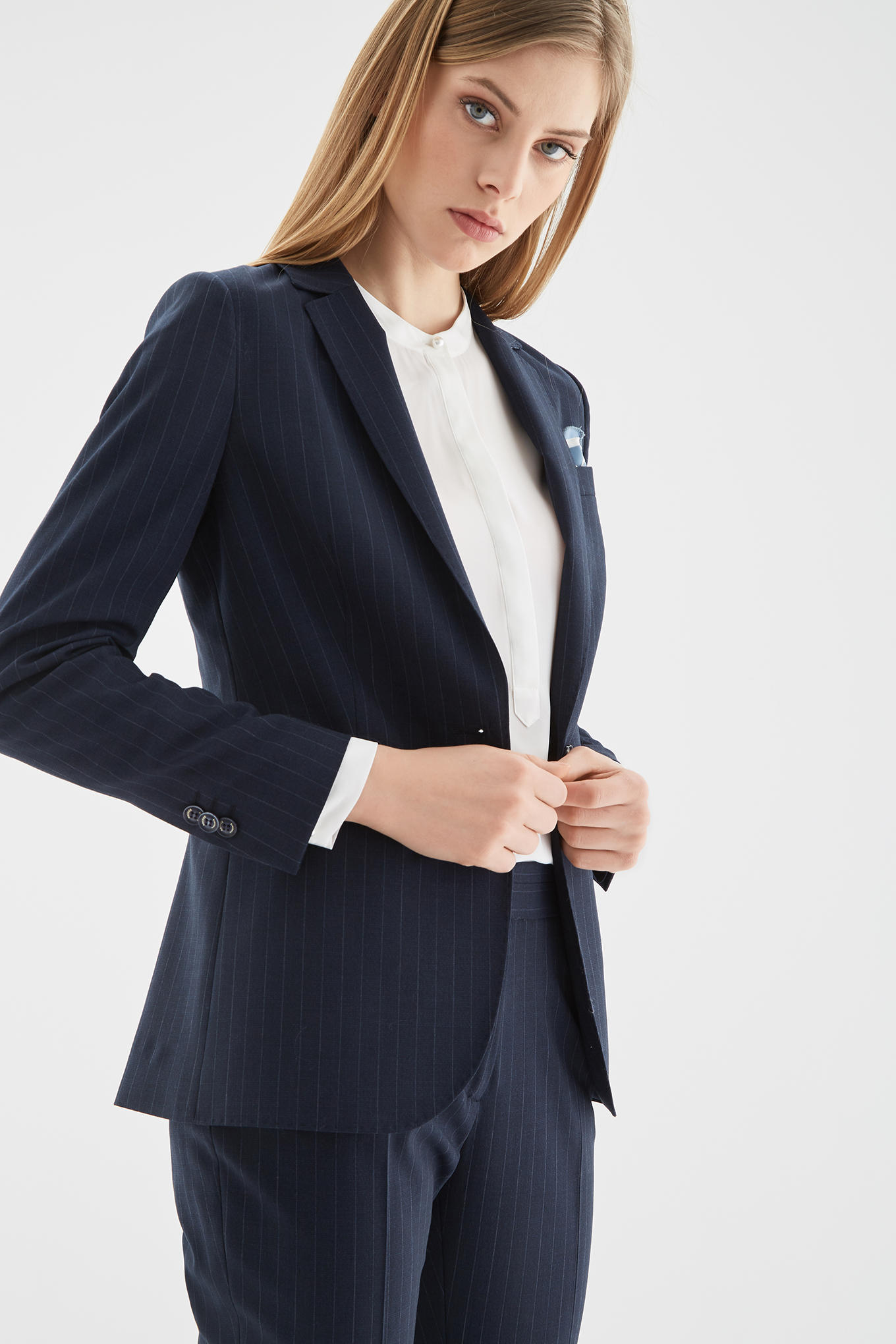 Suit Stripes Classic Woman
