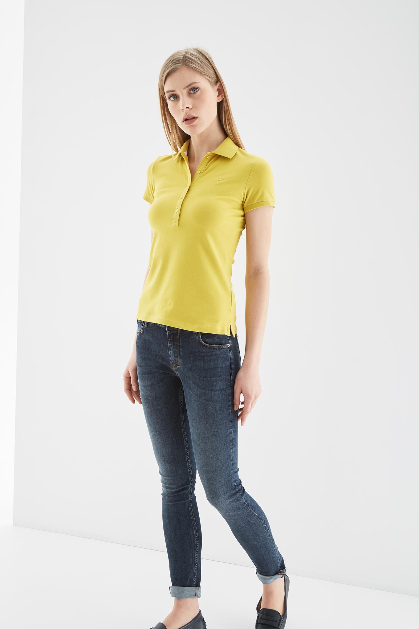 Polo Piquet Yellow Sport Woman
