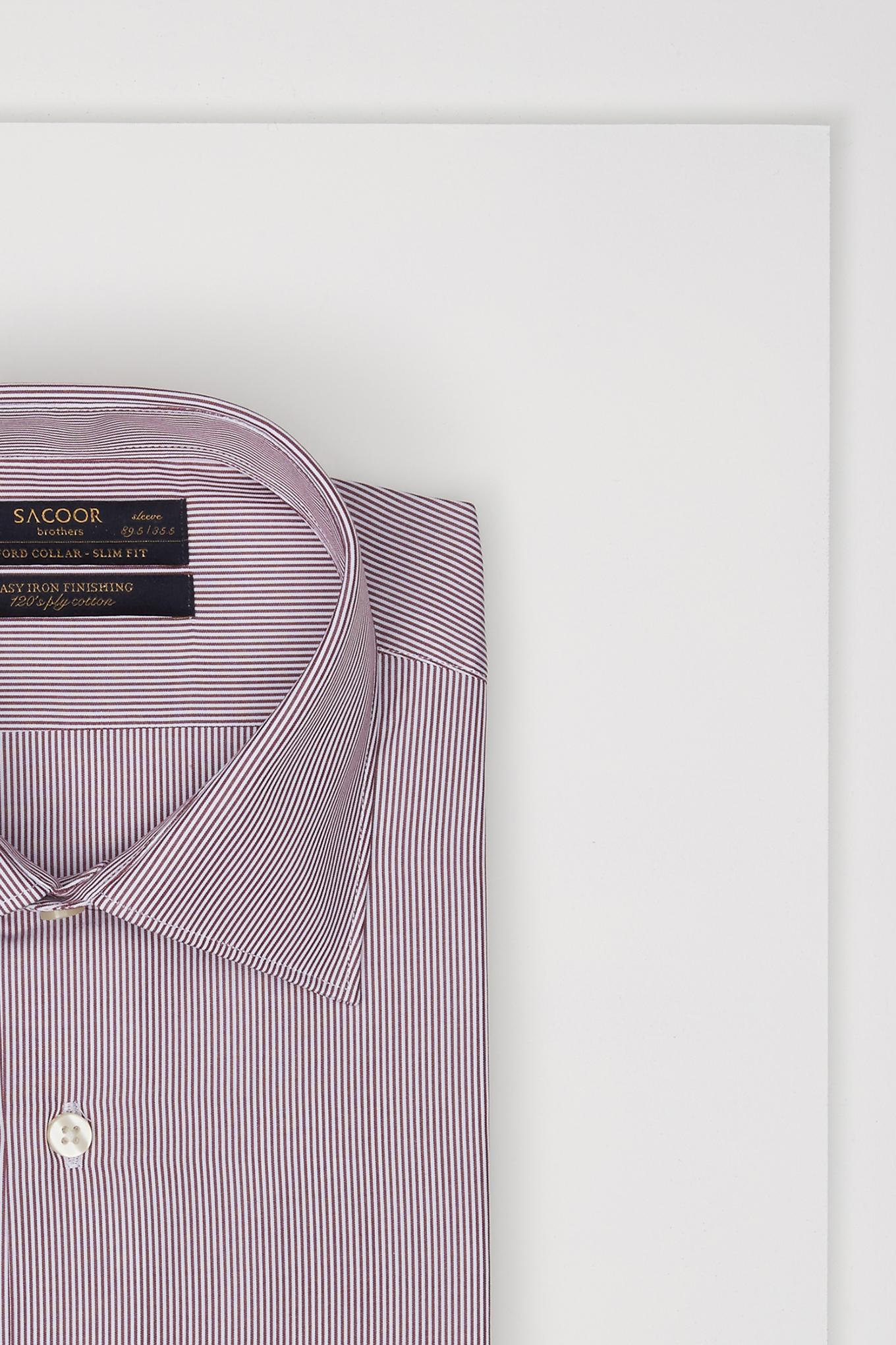 Camisa Bordeaux Classic Homem