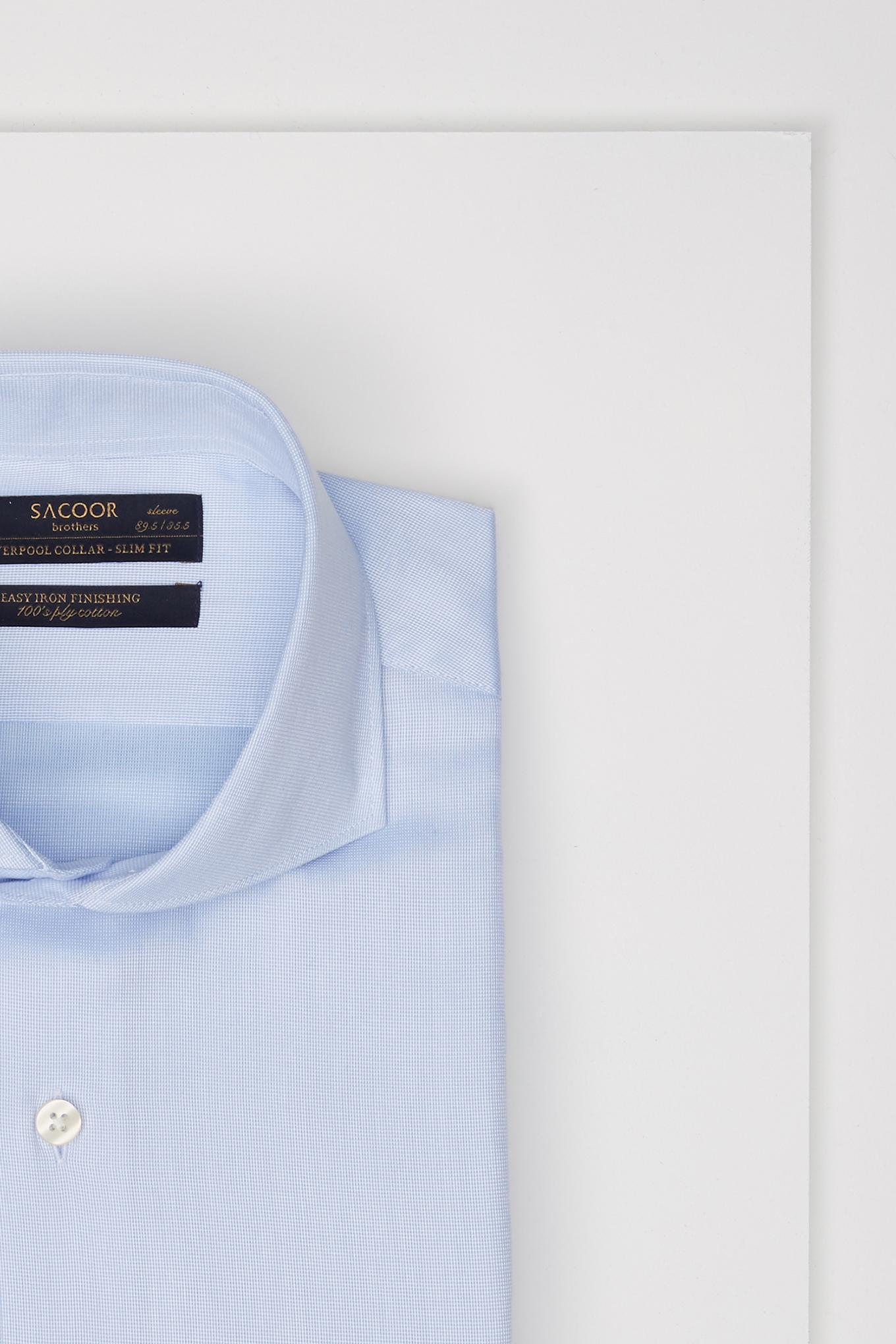 Shirt Light Blue Classic Man