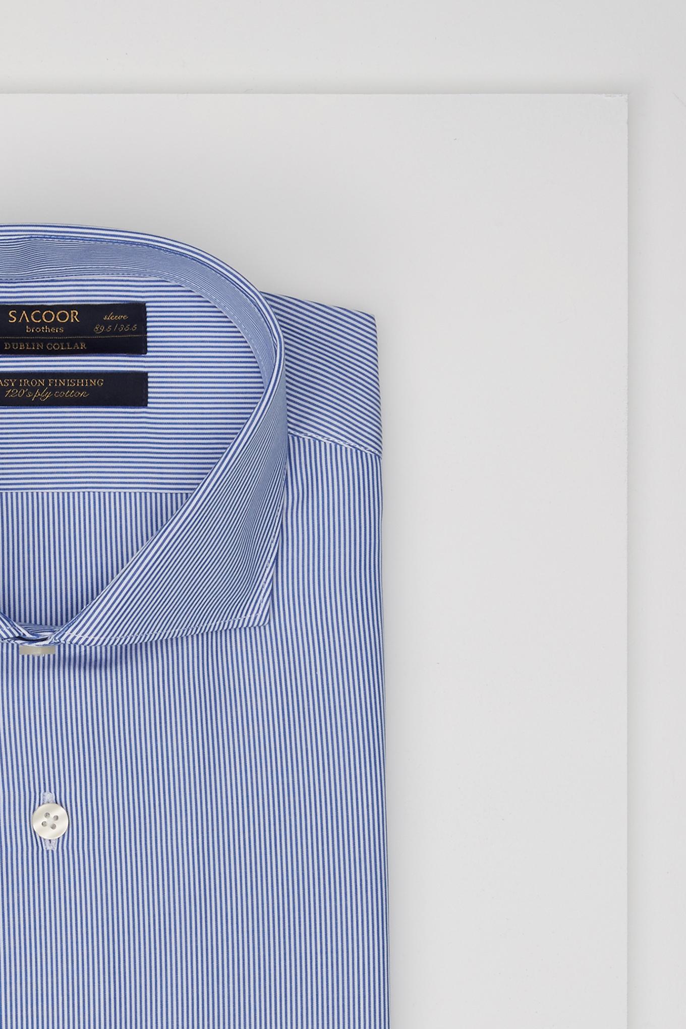 Shirt Dark Blue Classic Man