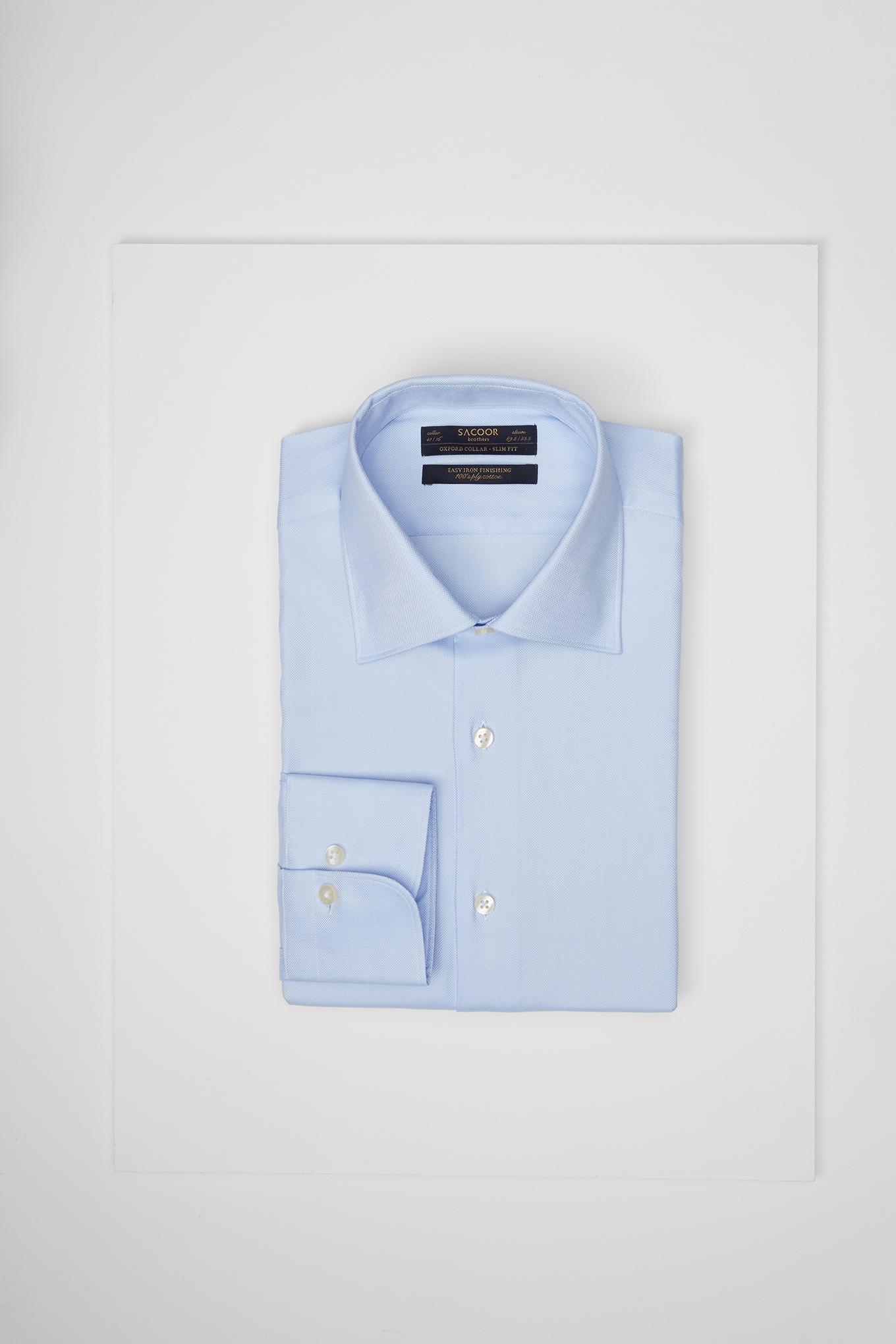 Camisa Azul Claro Classic Homem