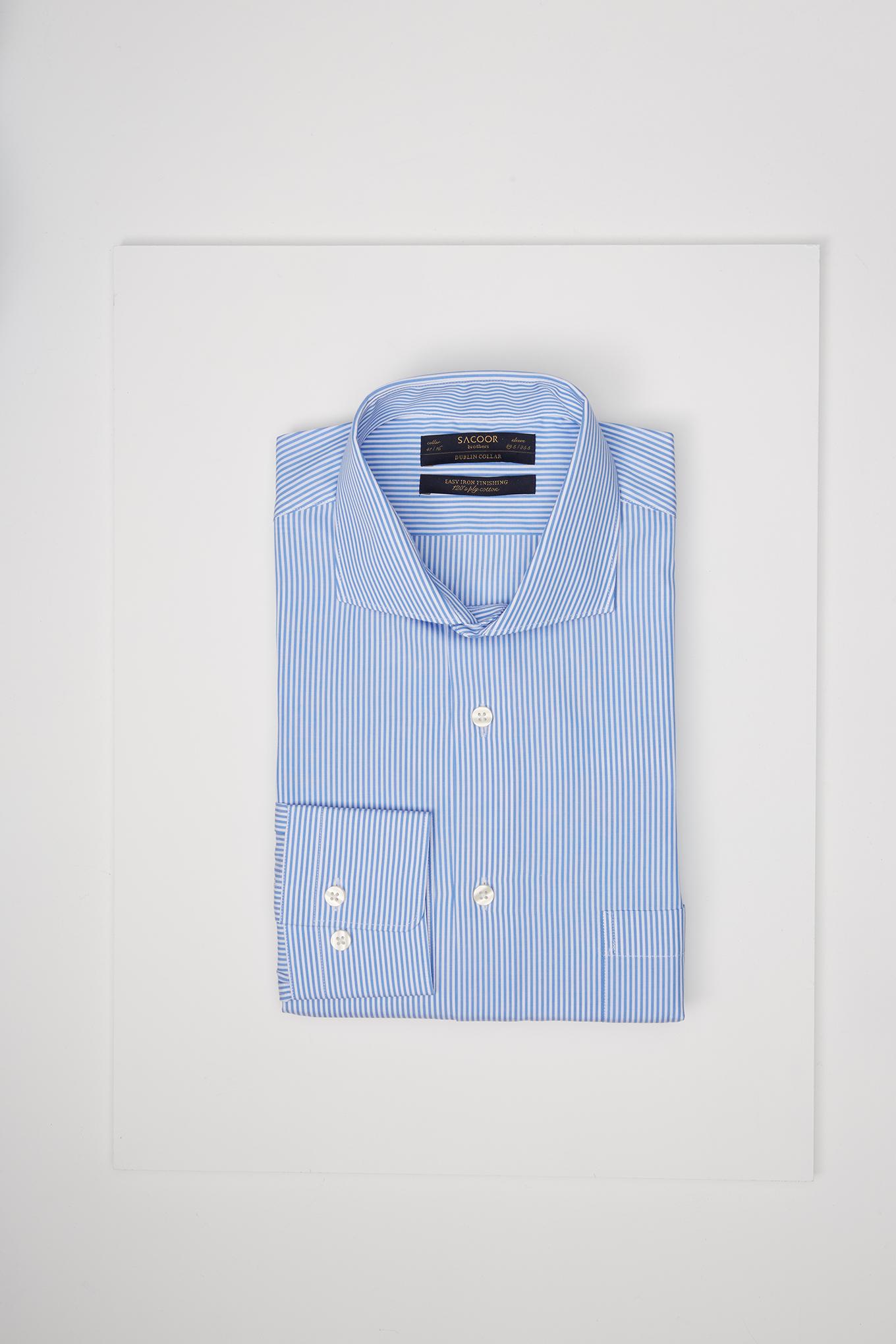 Shirt Blue Classic Man