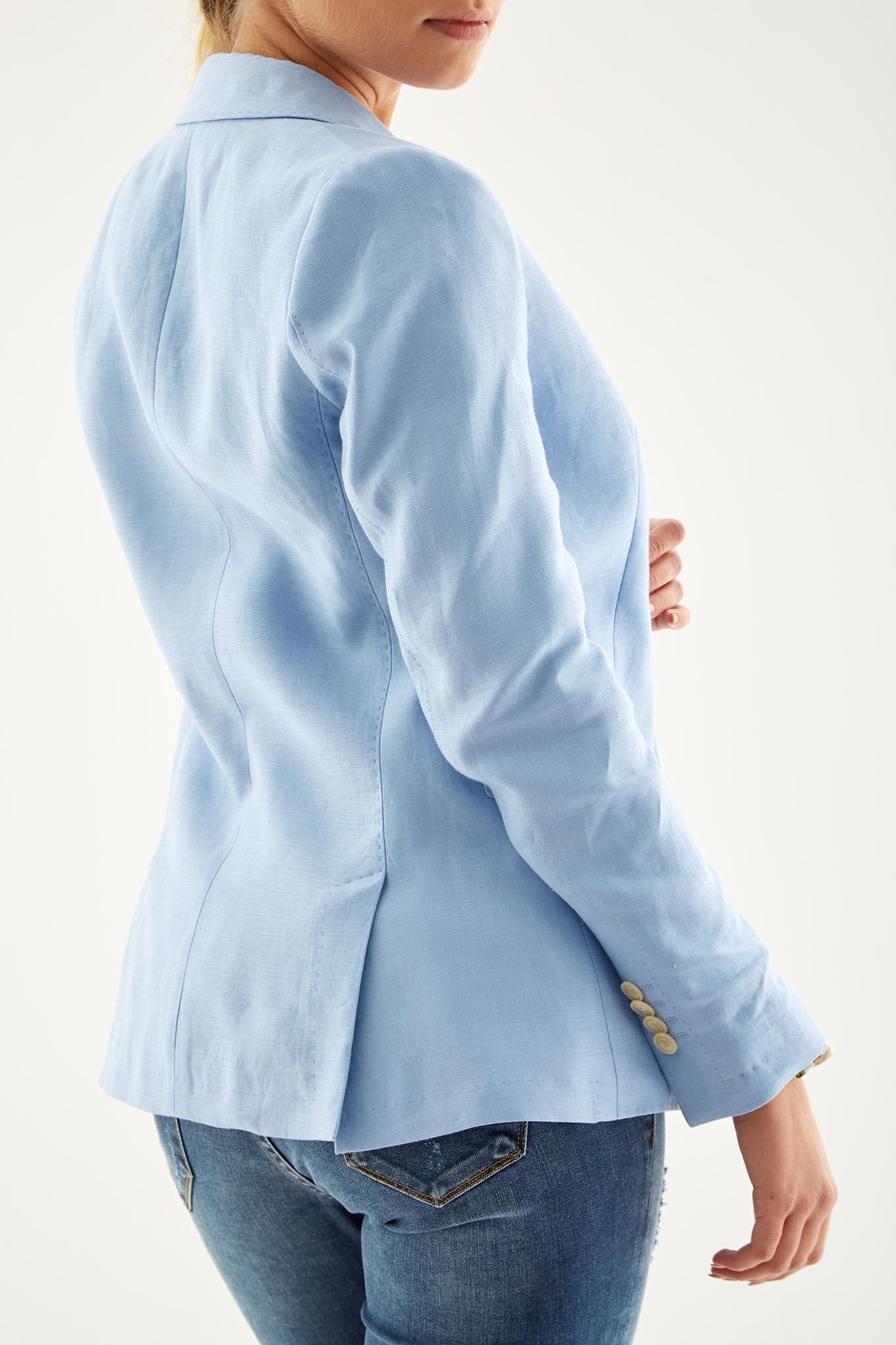 Blazer Azul Claro Classic Mulher
