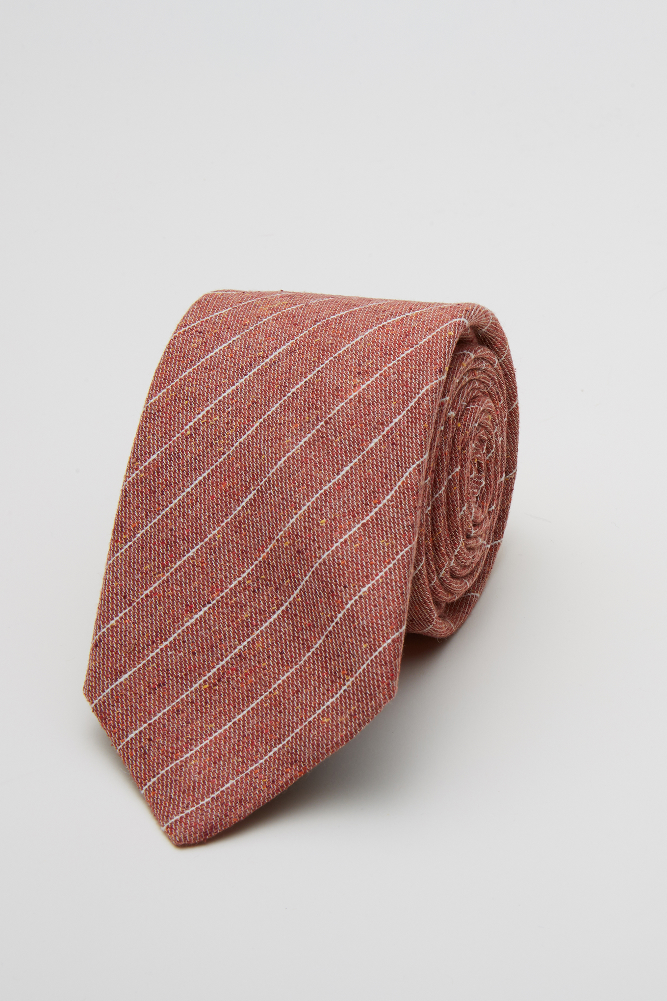Tie Dark Orange Classic Man