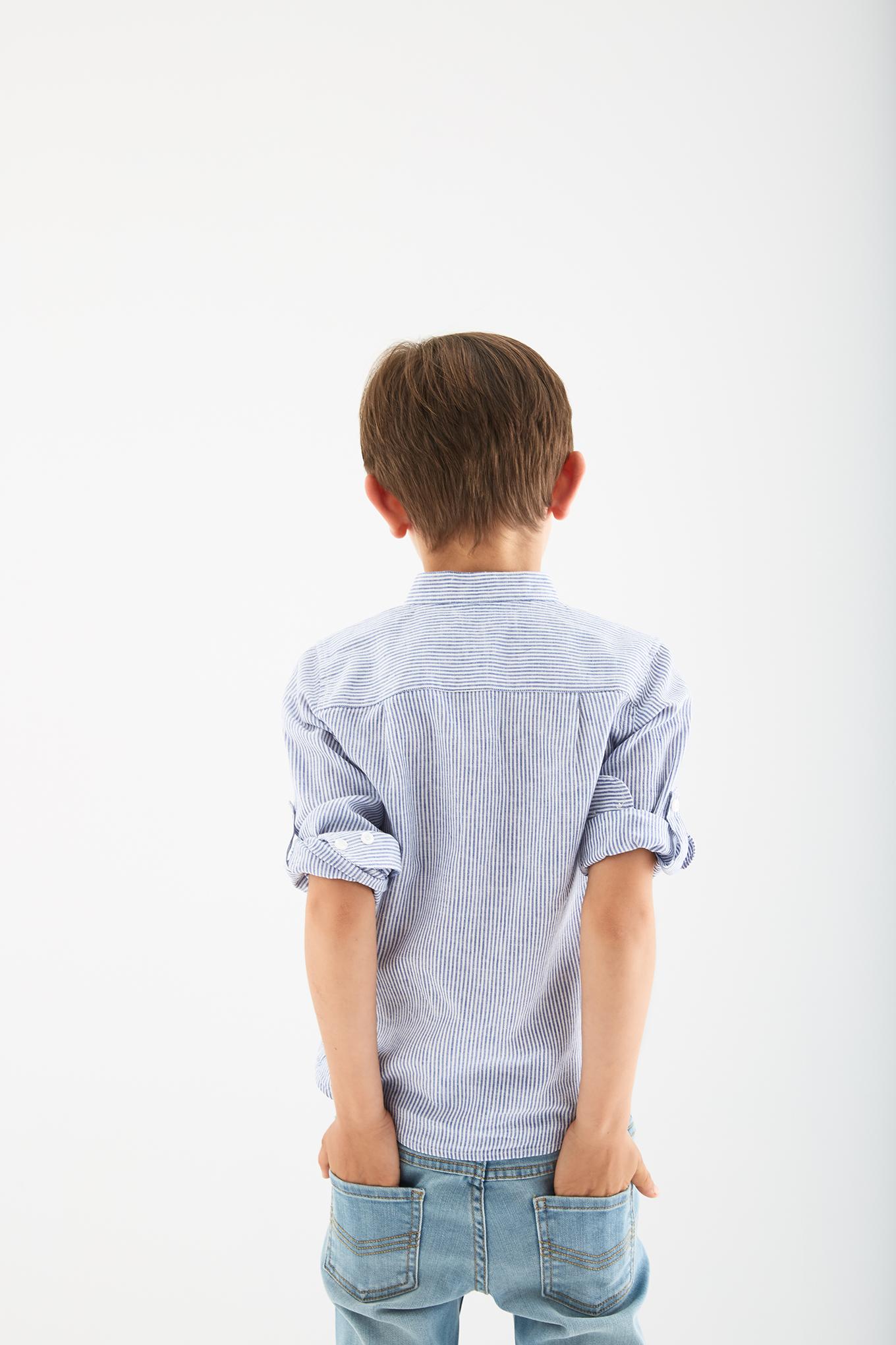 Shirt Stripes Casual Boy