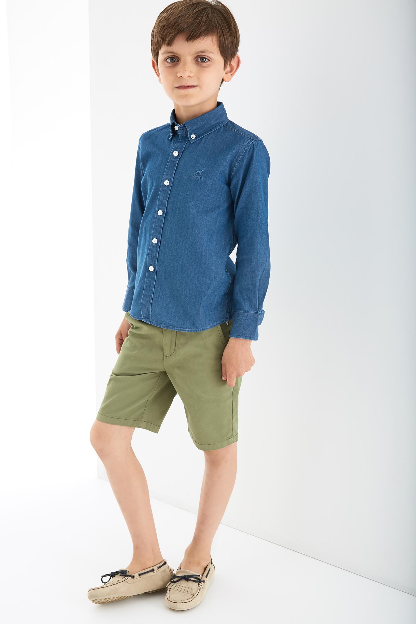 Shirt Medium Blue Sport Boy
