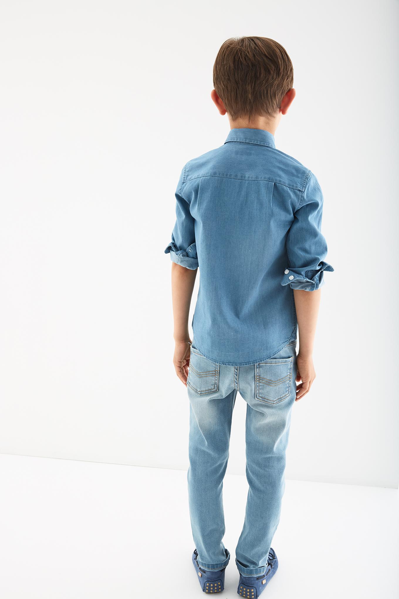 Shirt Light Blue Sport Boy