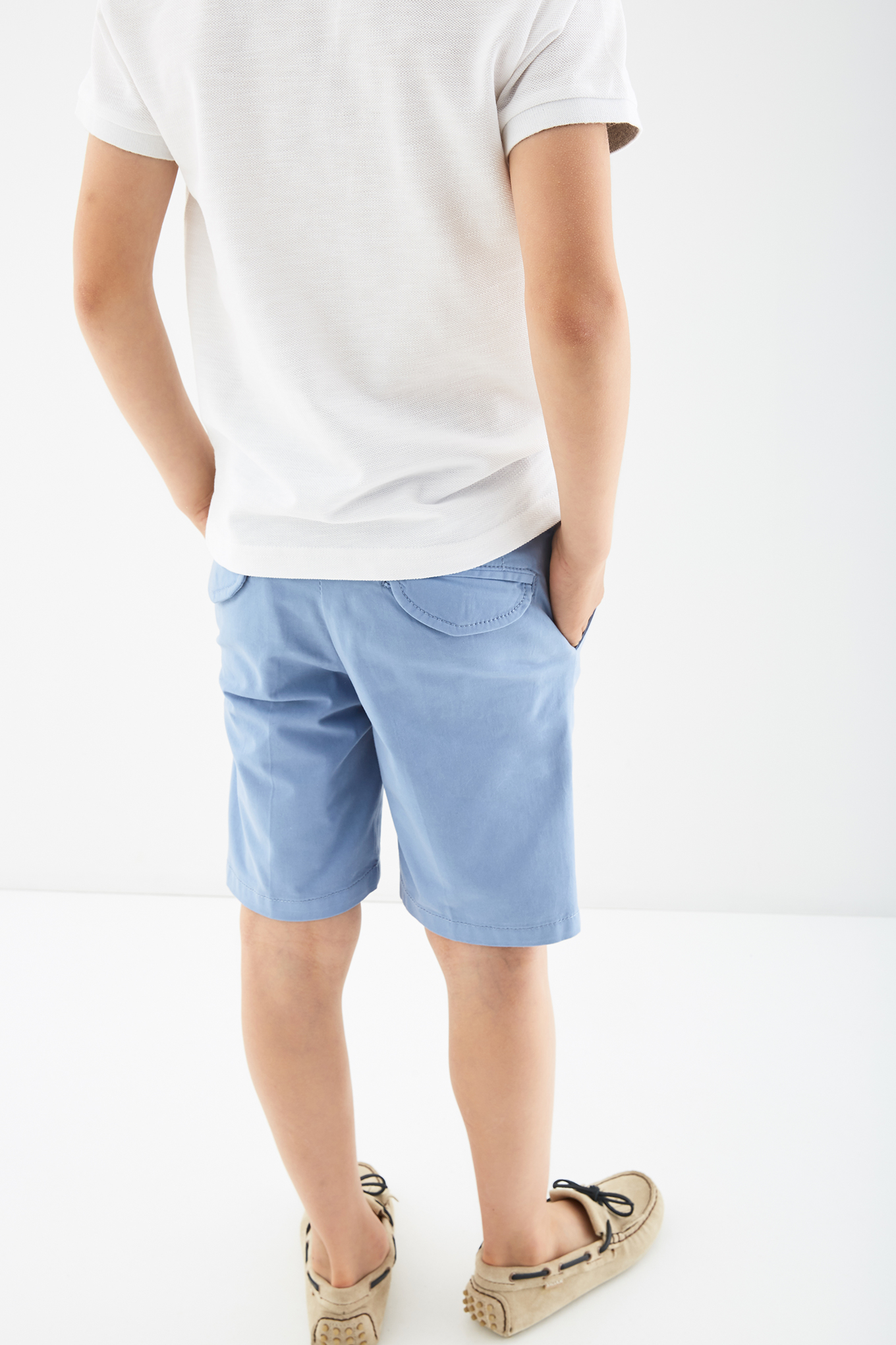 Bermuda Azul Claro Casual Rapaz