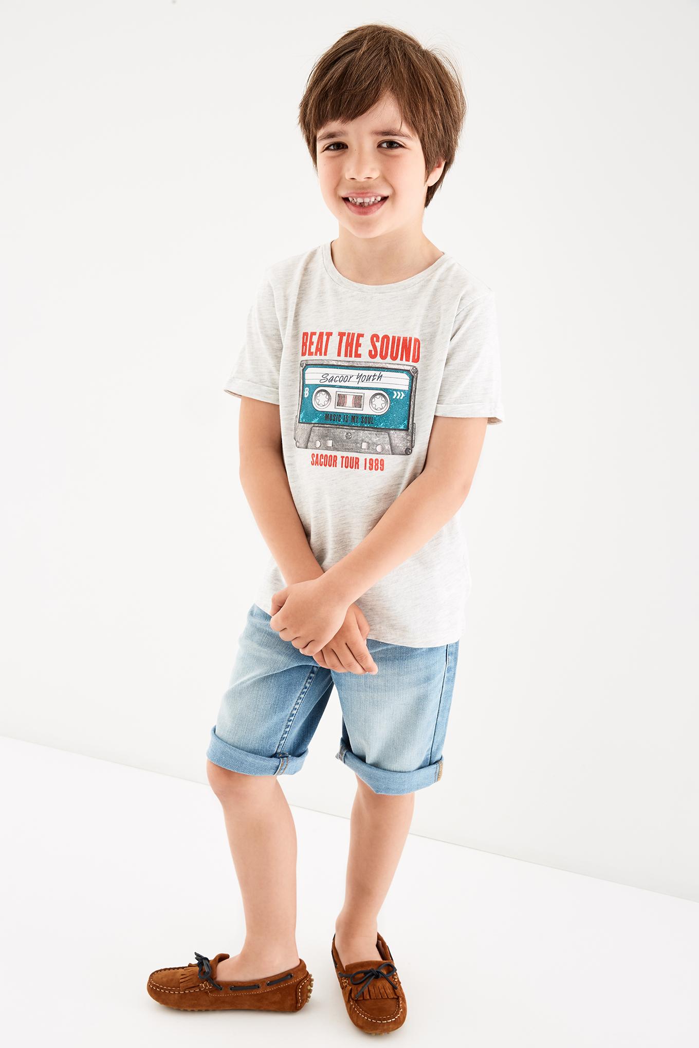 T-Shirt Cinza Claro Sport Rapaz