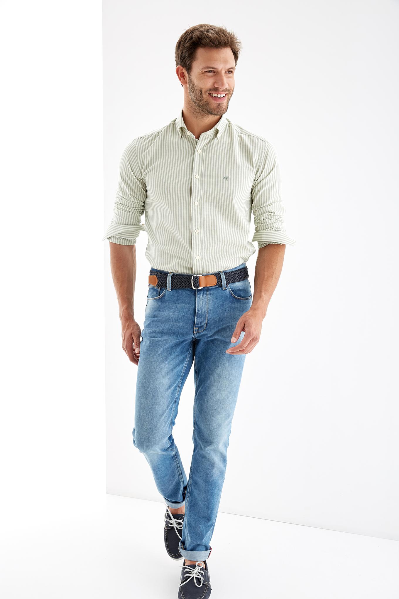 Camisa Verde Sport Homem