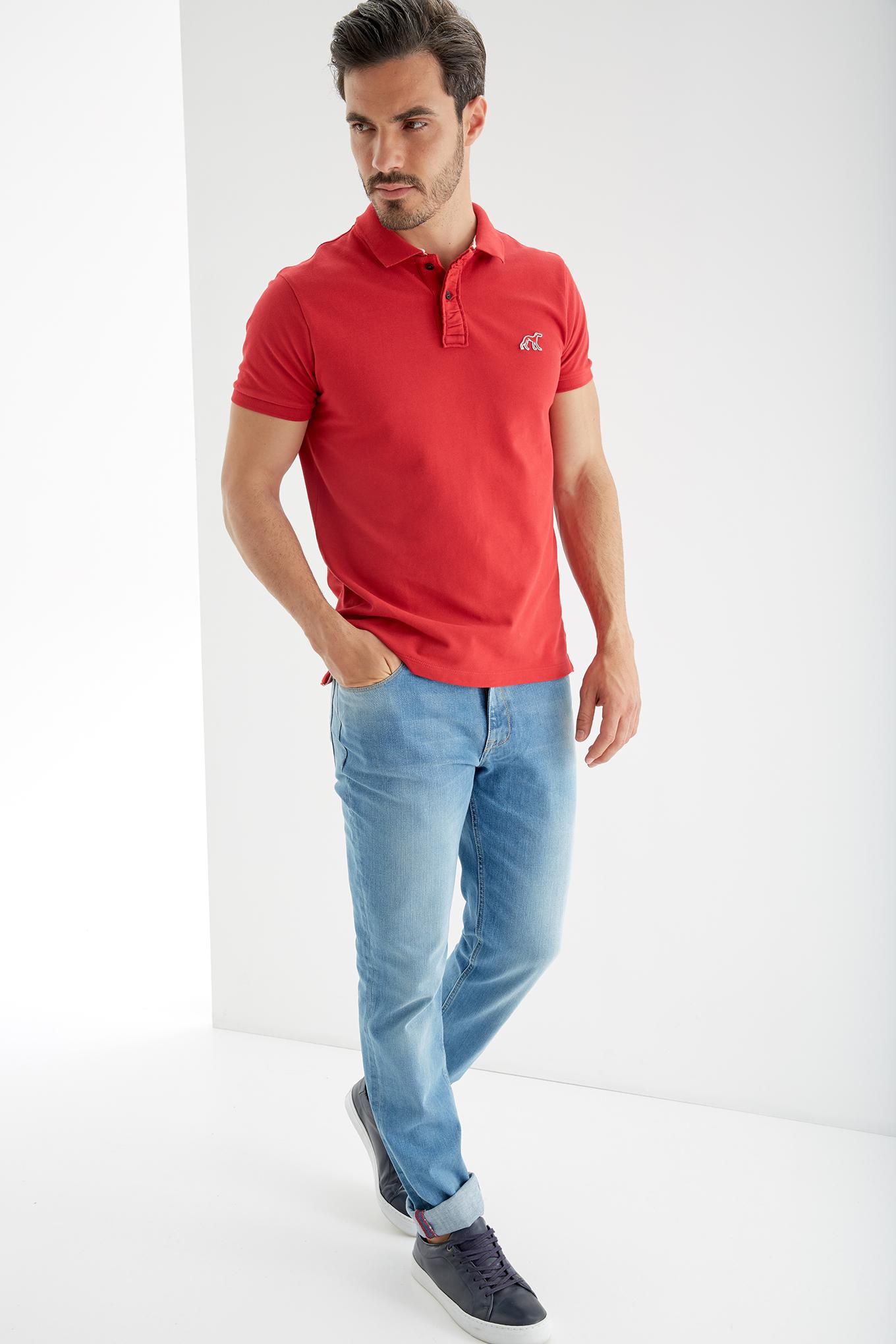 Polo Piquet Red Sport Man