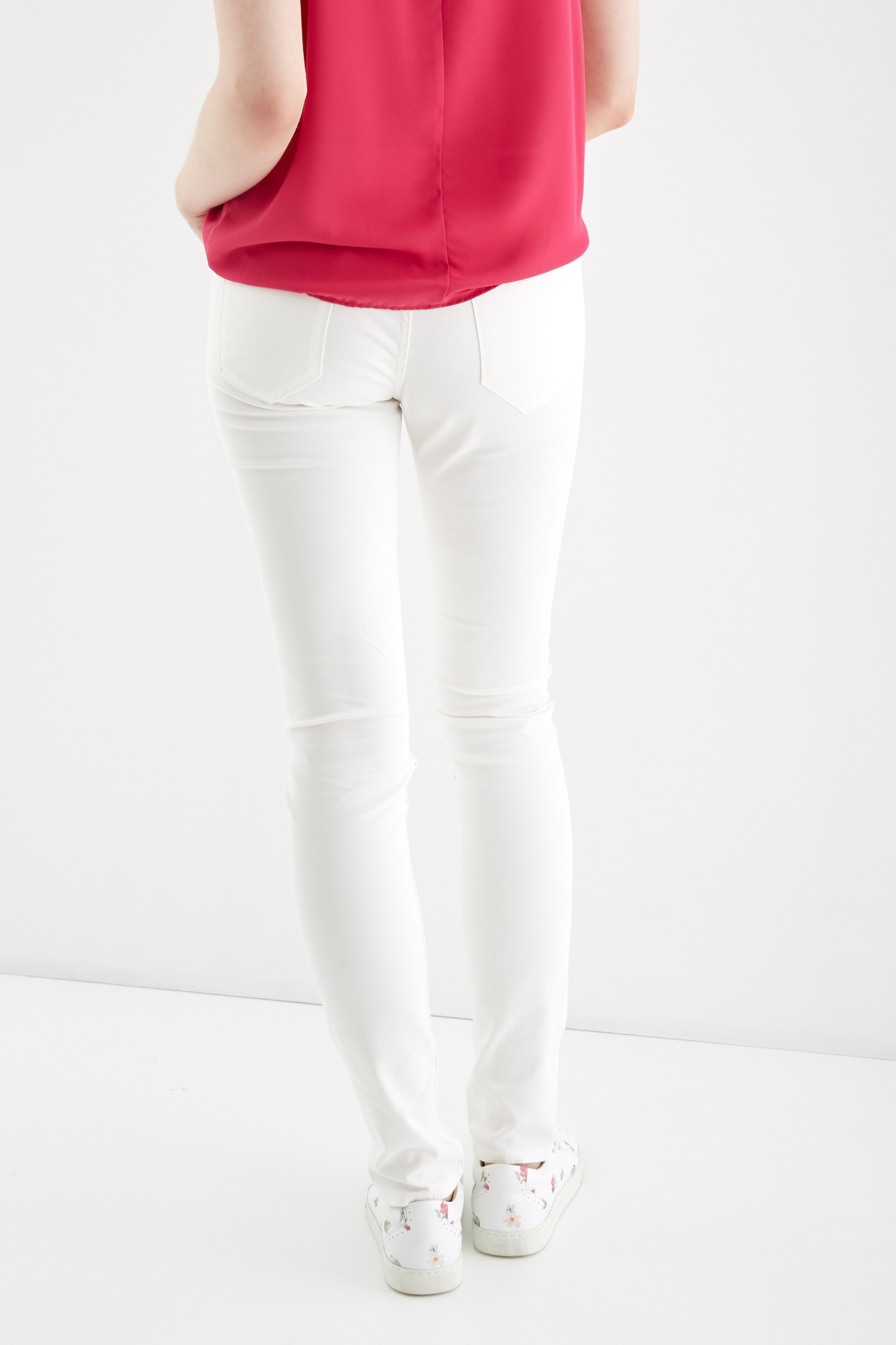 Jeans White Sport Woman