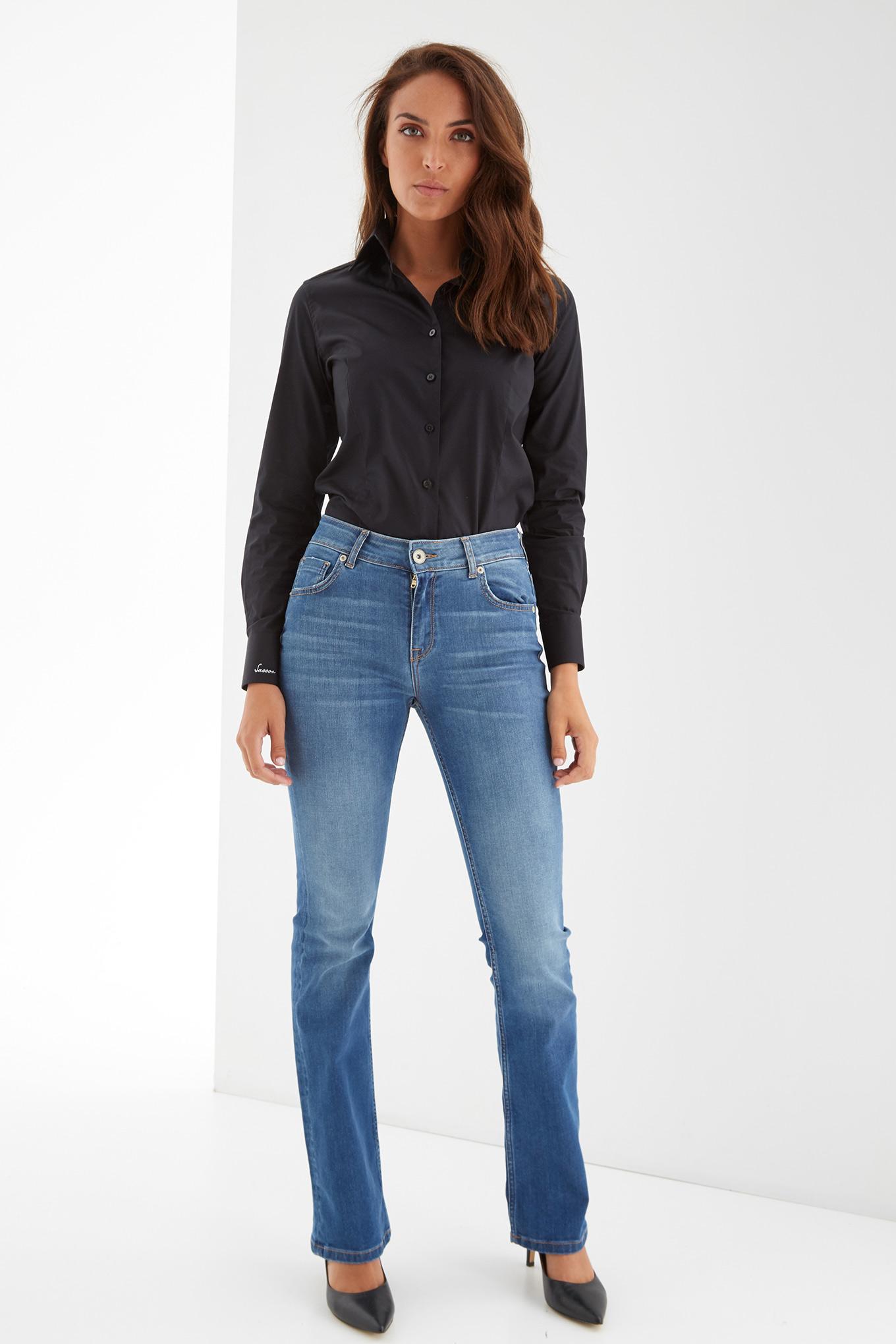 Shirt Black Classic Woman