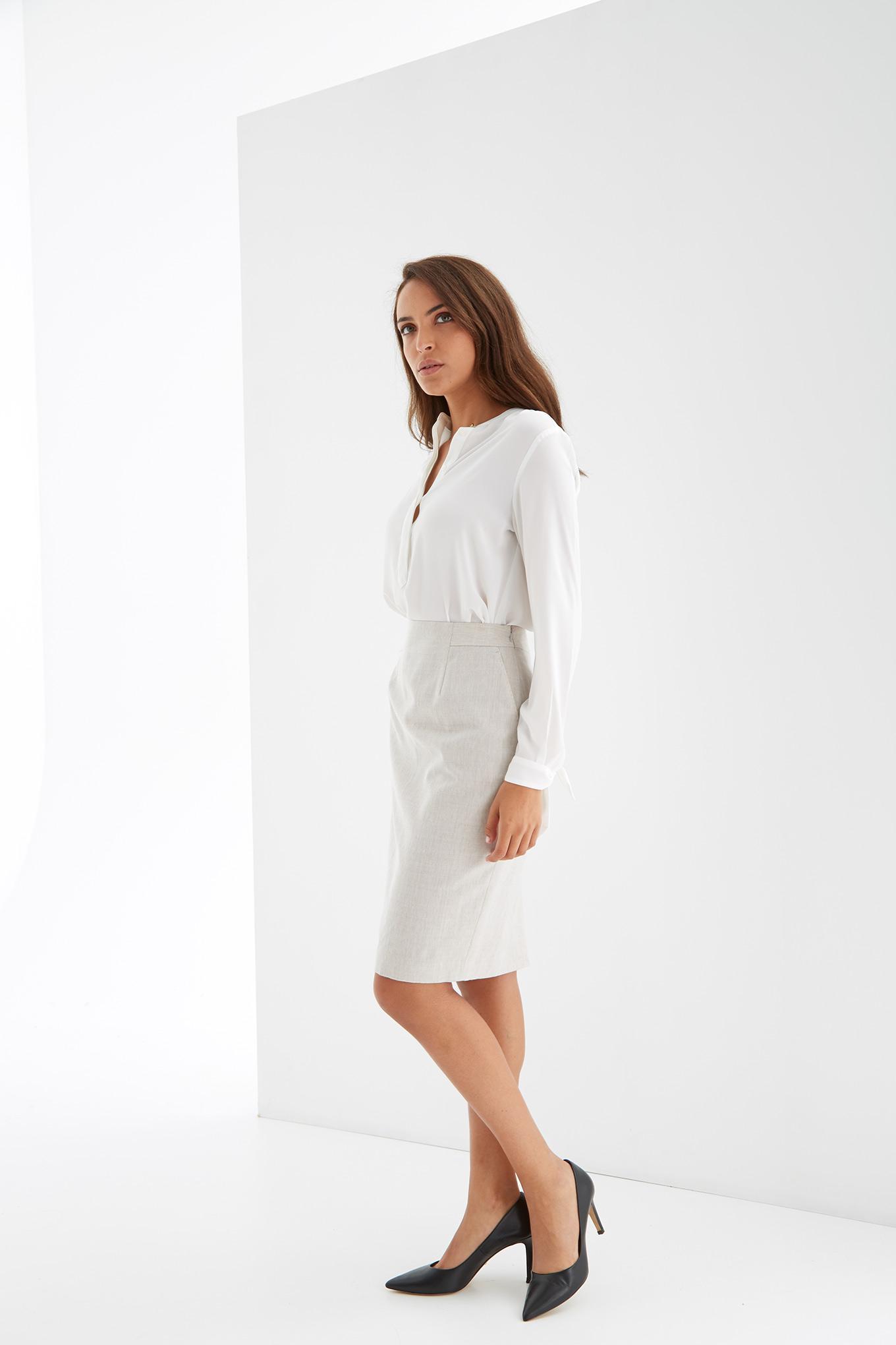 Skirt Beige Classic Woman