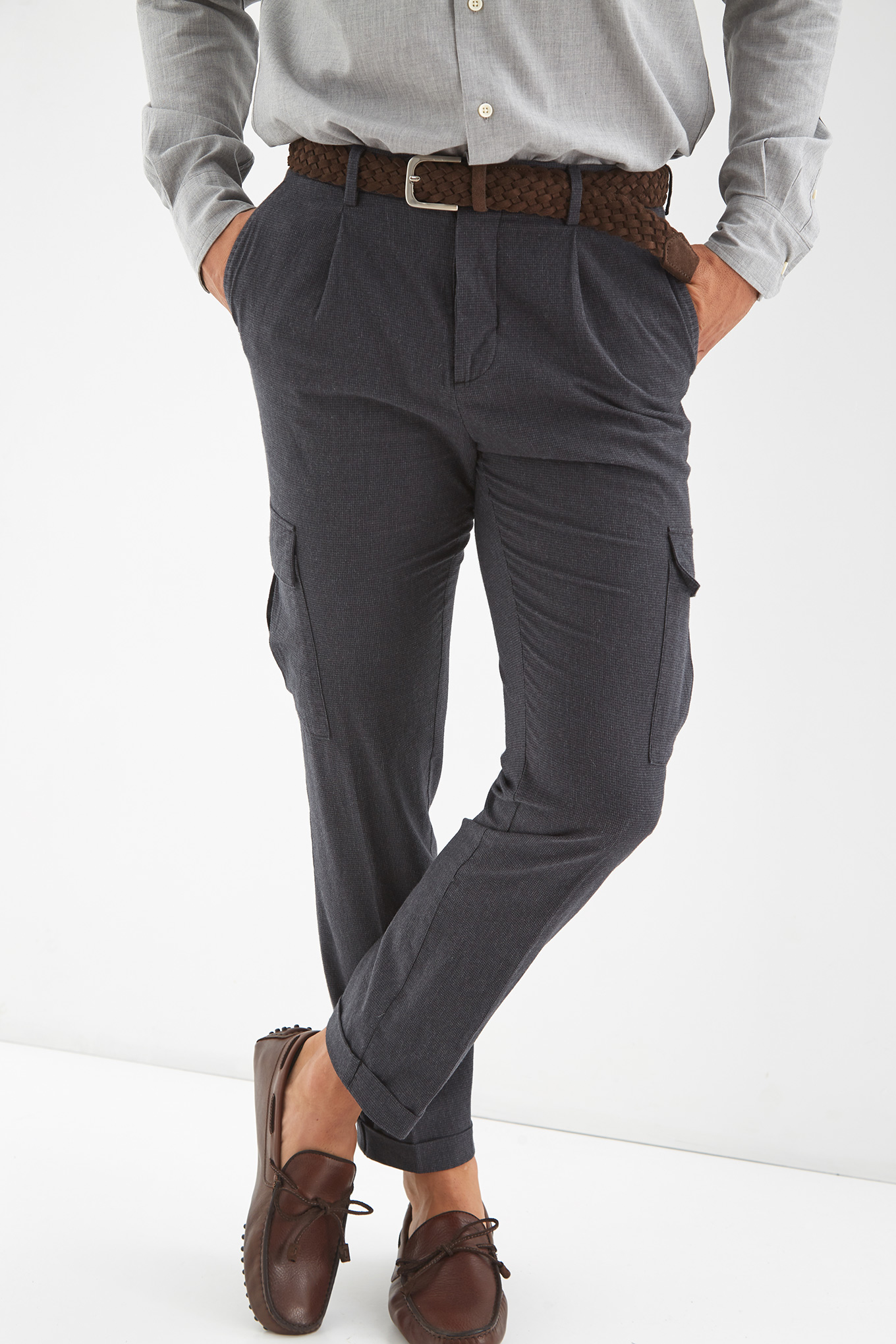 Cargo Trousers Dark Grey Sport Man