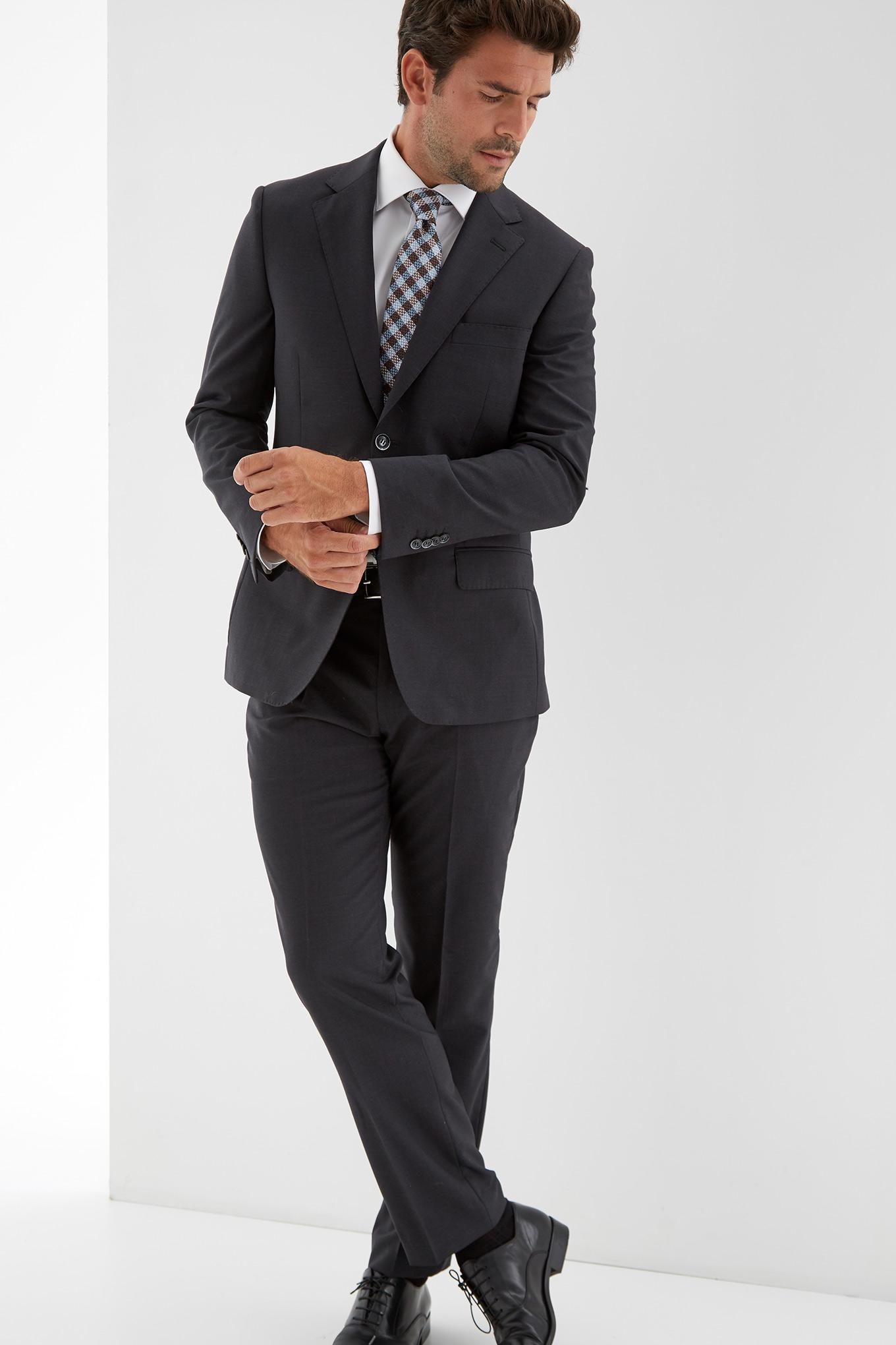 Blazer Cinzento Escuro Classic Homem