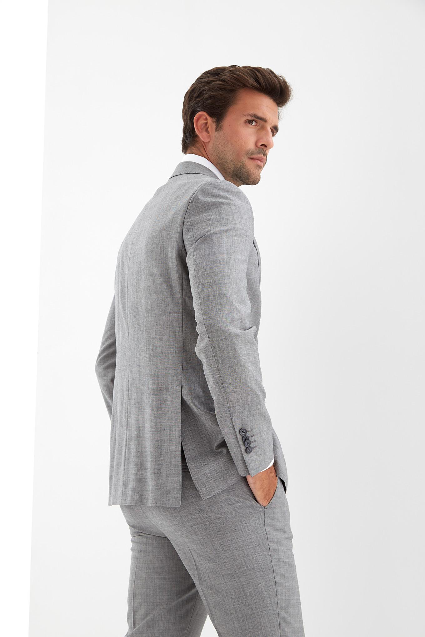 Suit Light Grey Classic Man