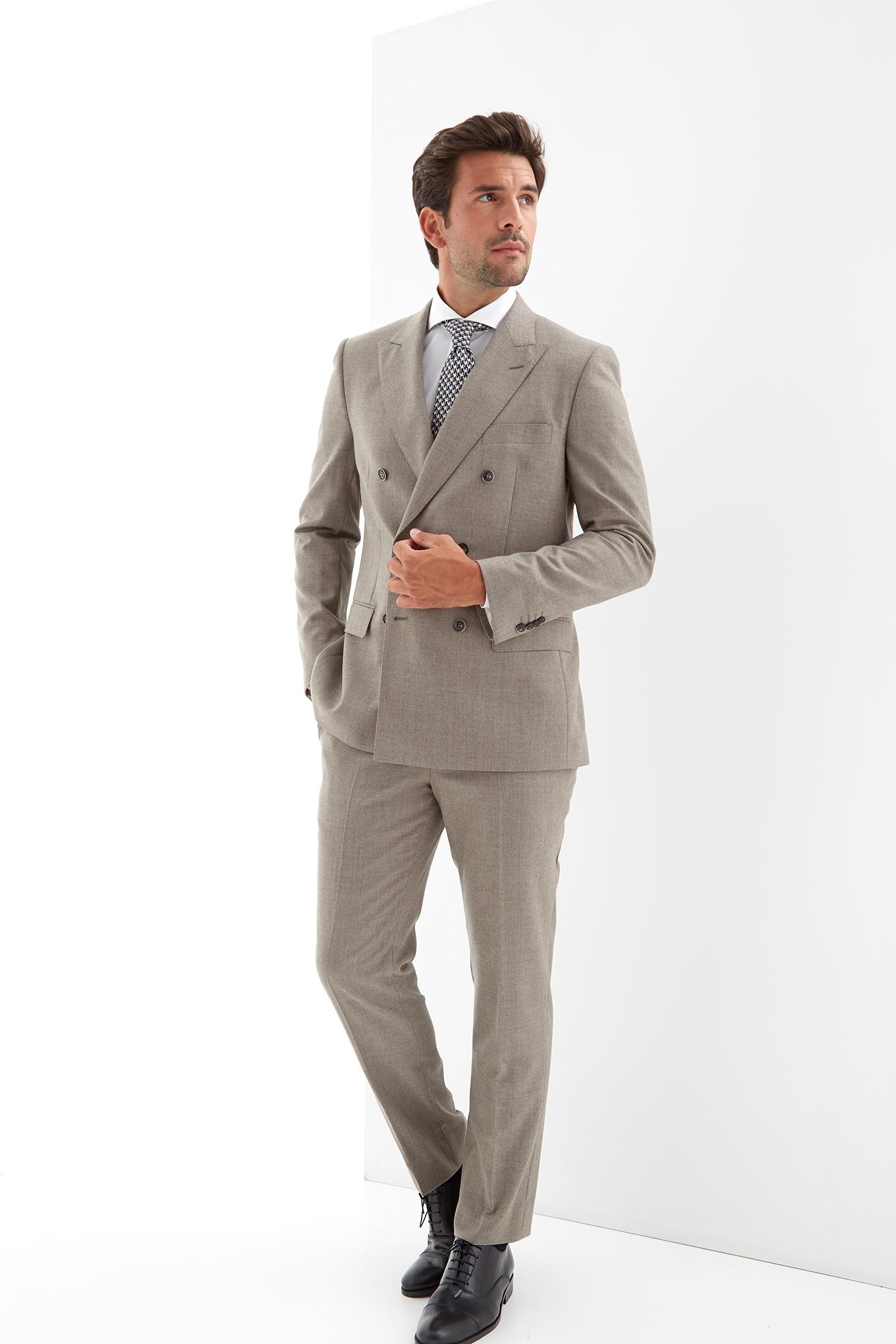 Suit Dark Beige Classic Man