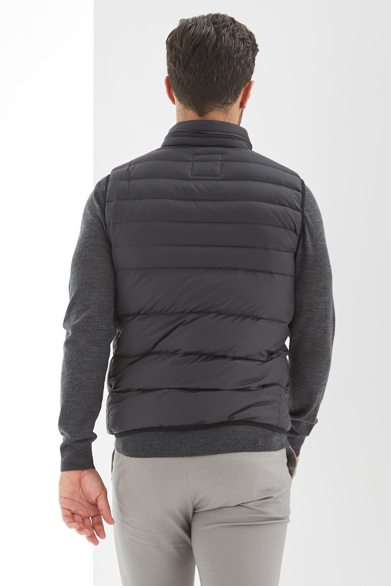 Waist Coat Black Casual Man
