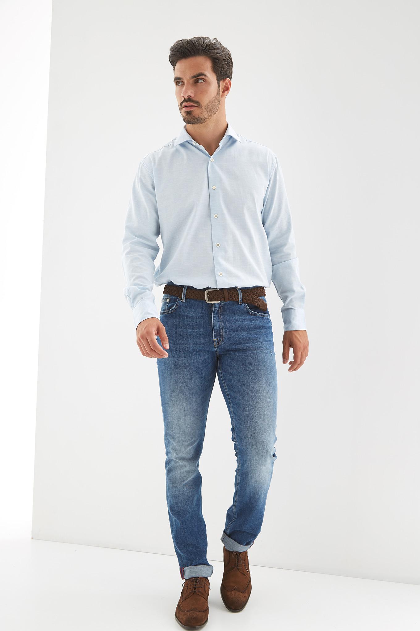 Jeans Medium Blue Casual Man