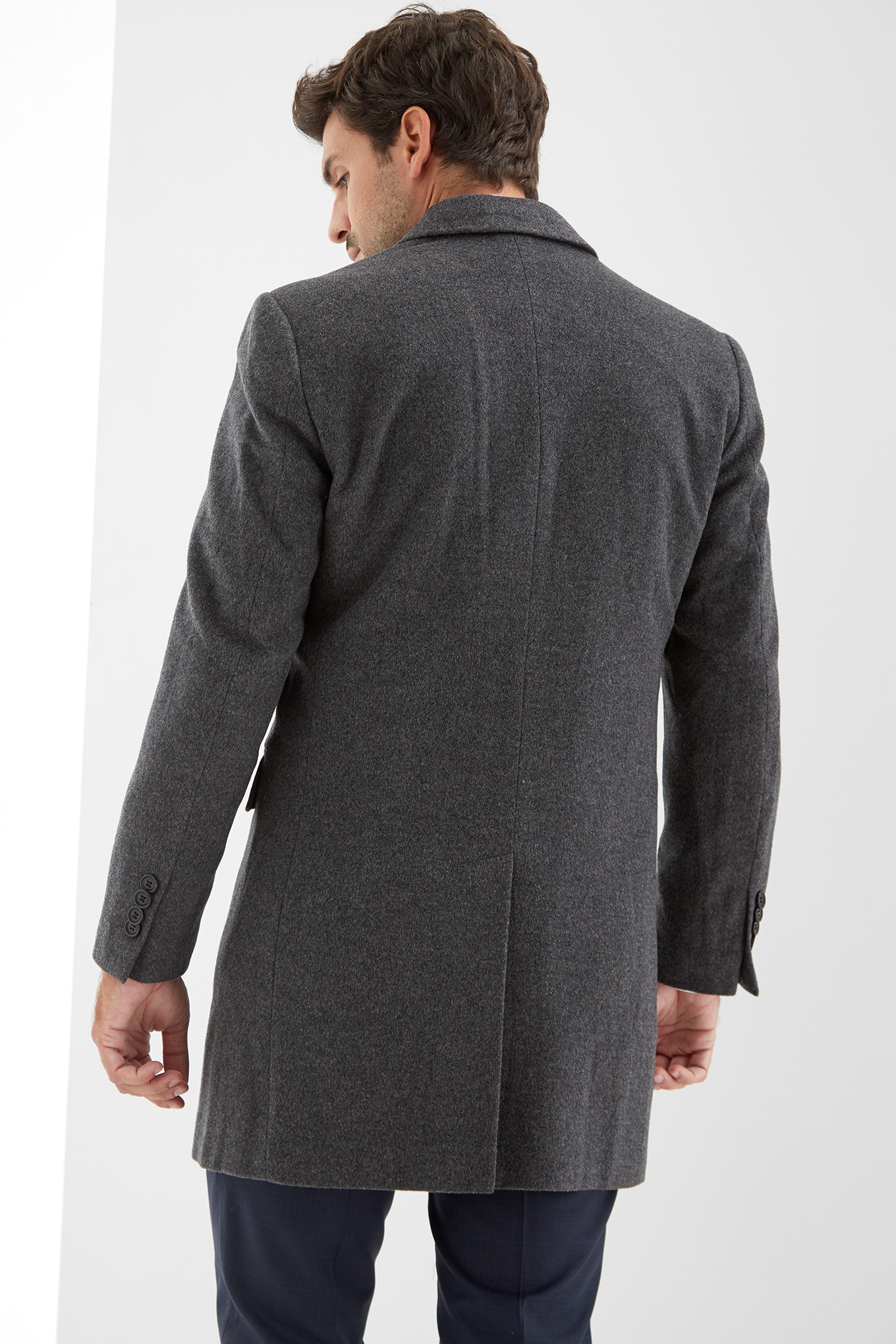 Overcoat Anthracite Casual Man