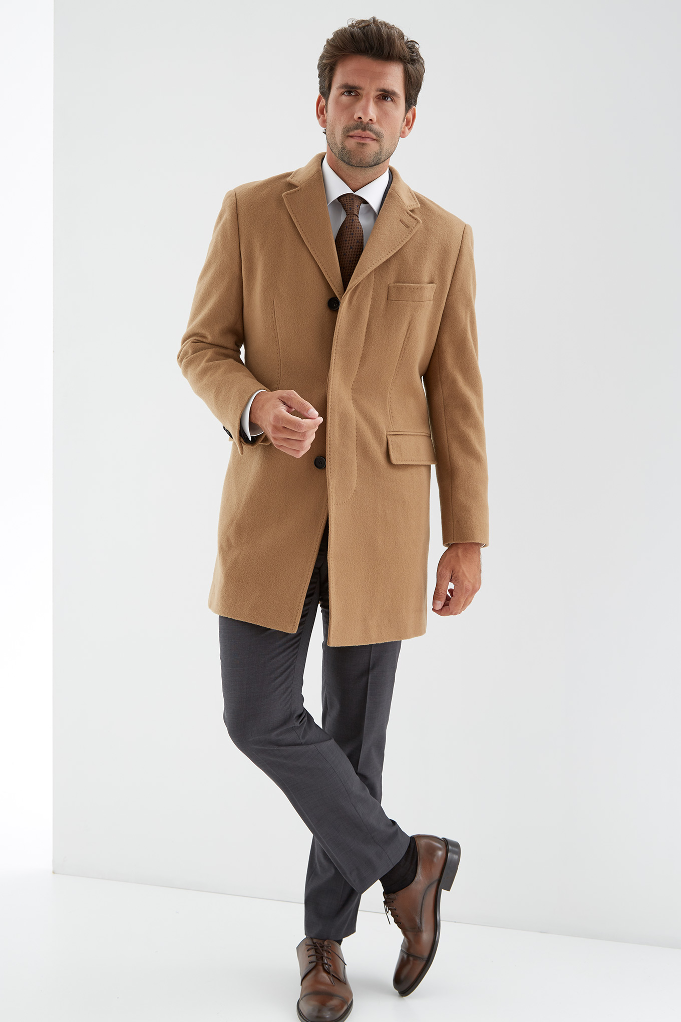 Overcoat Camel Casual Man
