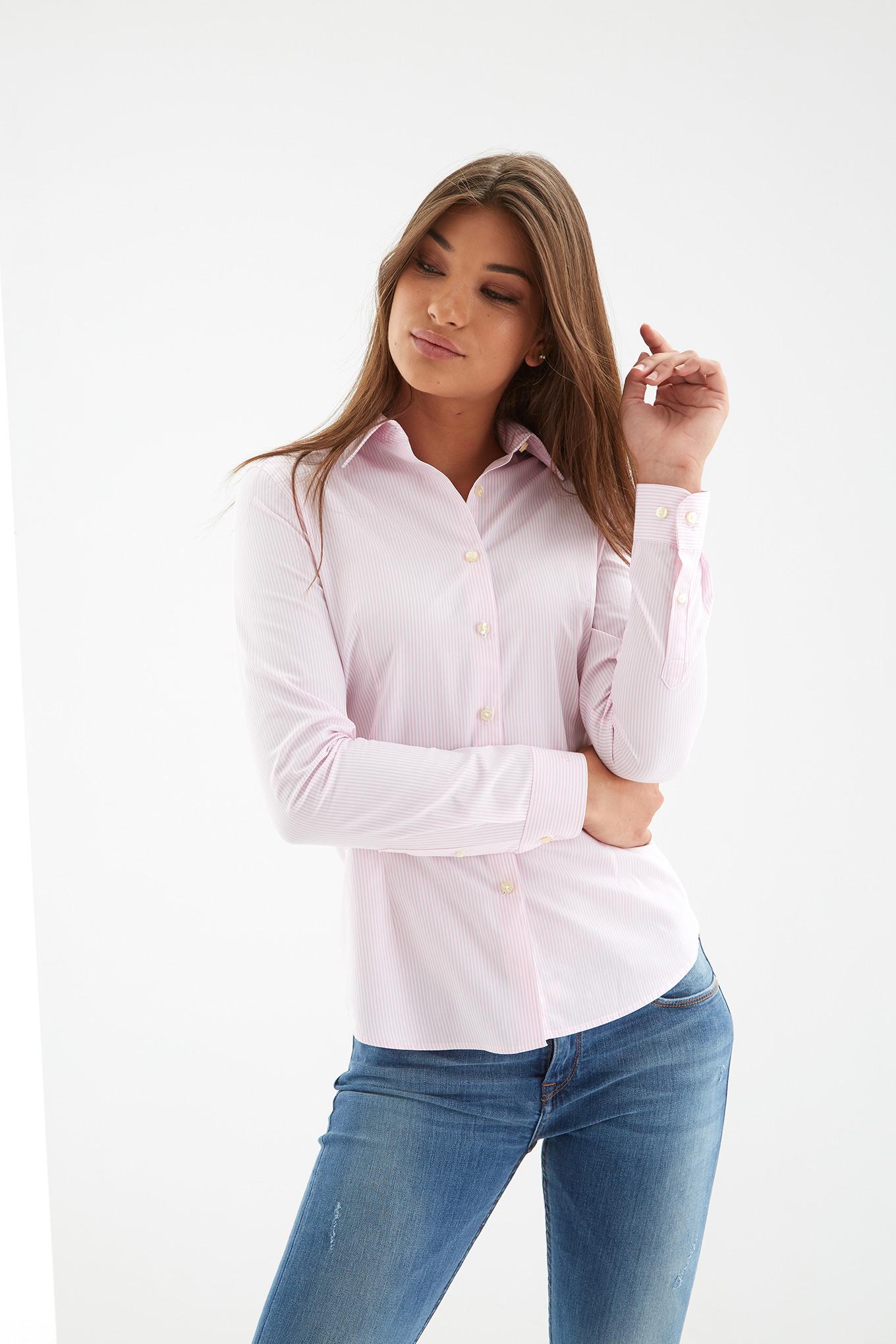 Camisa Rosa Claro Classic Mulher