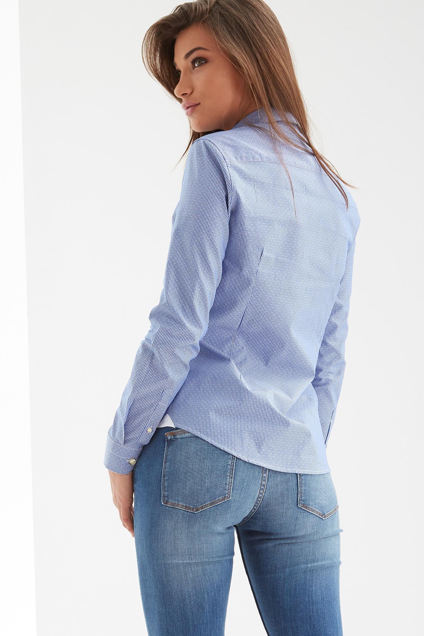 Camisa Azul Escuro Classic Mulher