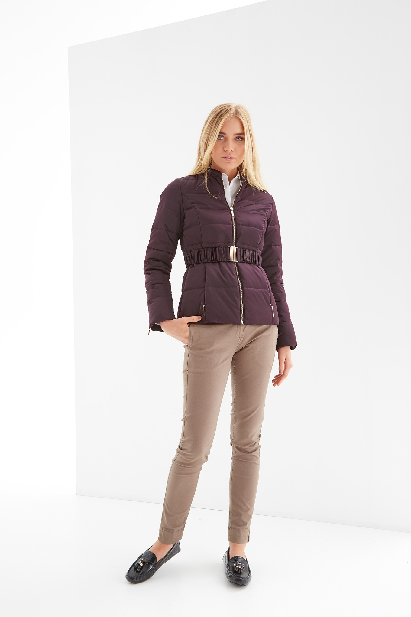 Jacket Plum Casual Woman