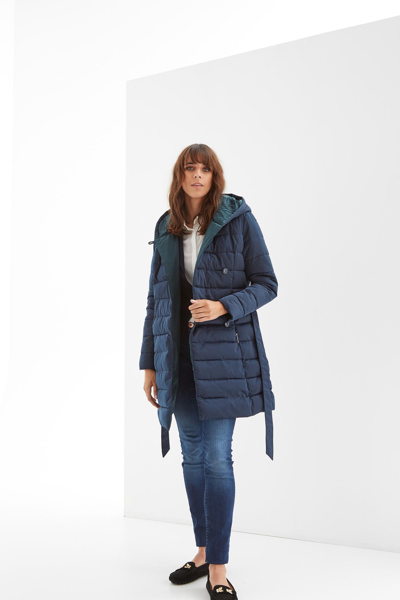 Jacket Dark Blue Casual Woman