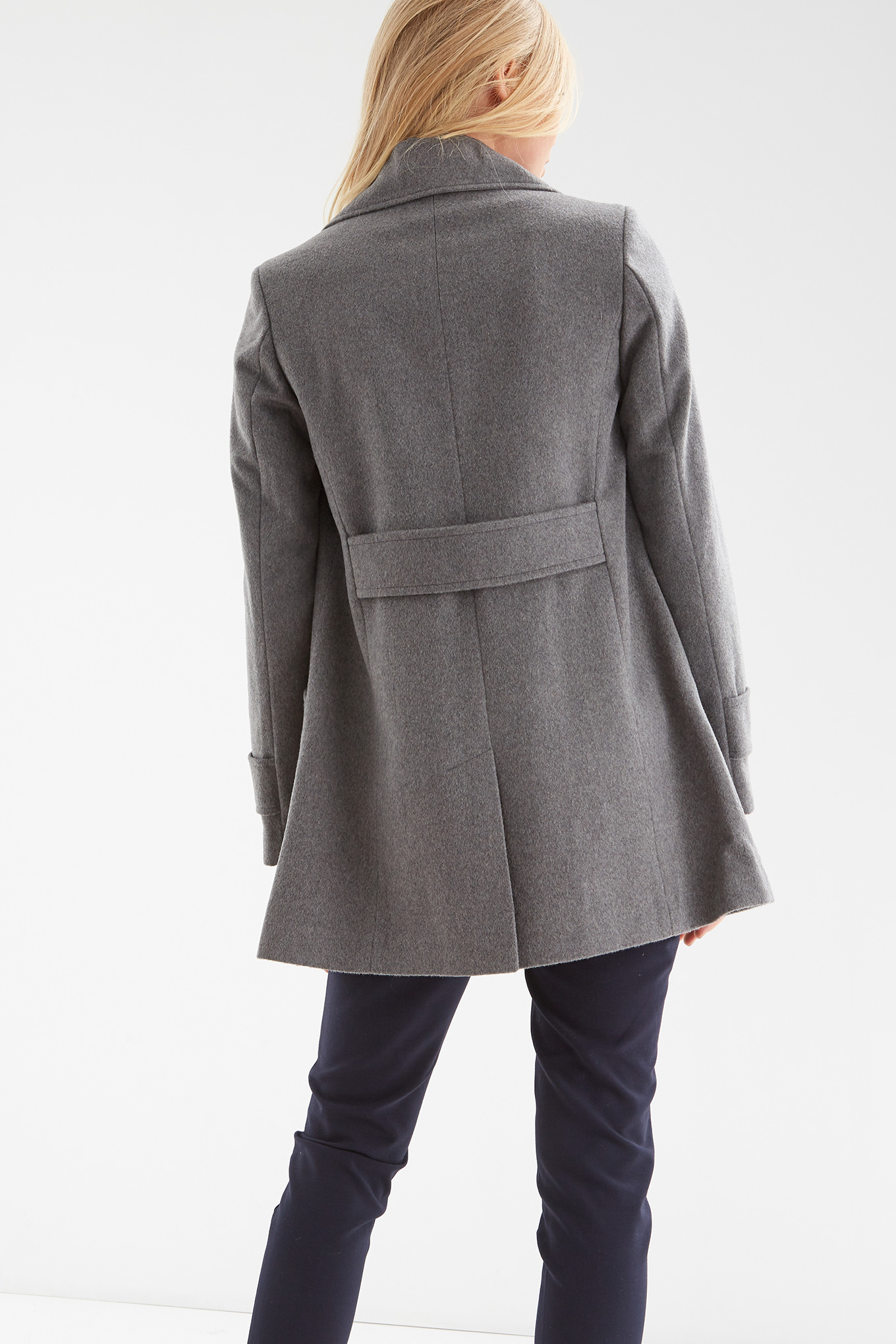 Coat Mix Grey Casual Woman