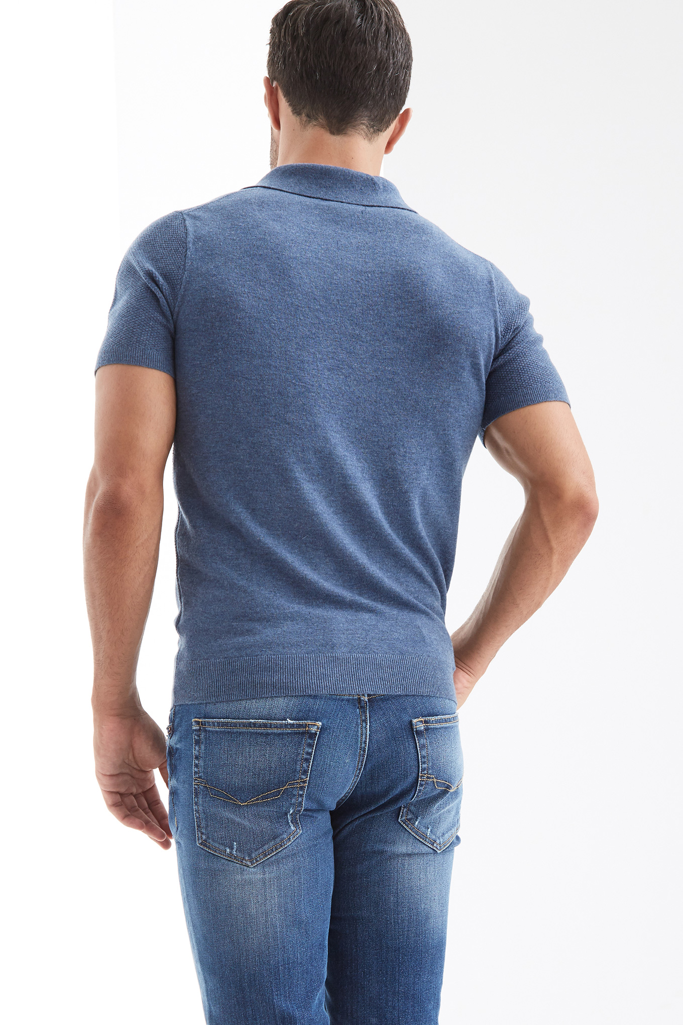 Sweater Medium Blue Casual Man