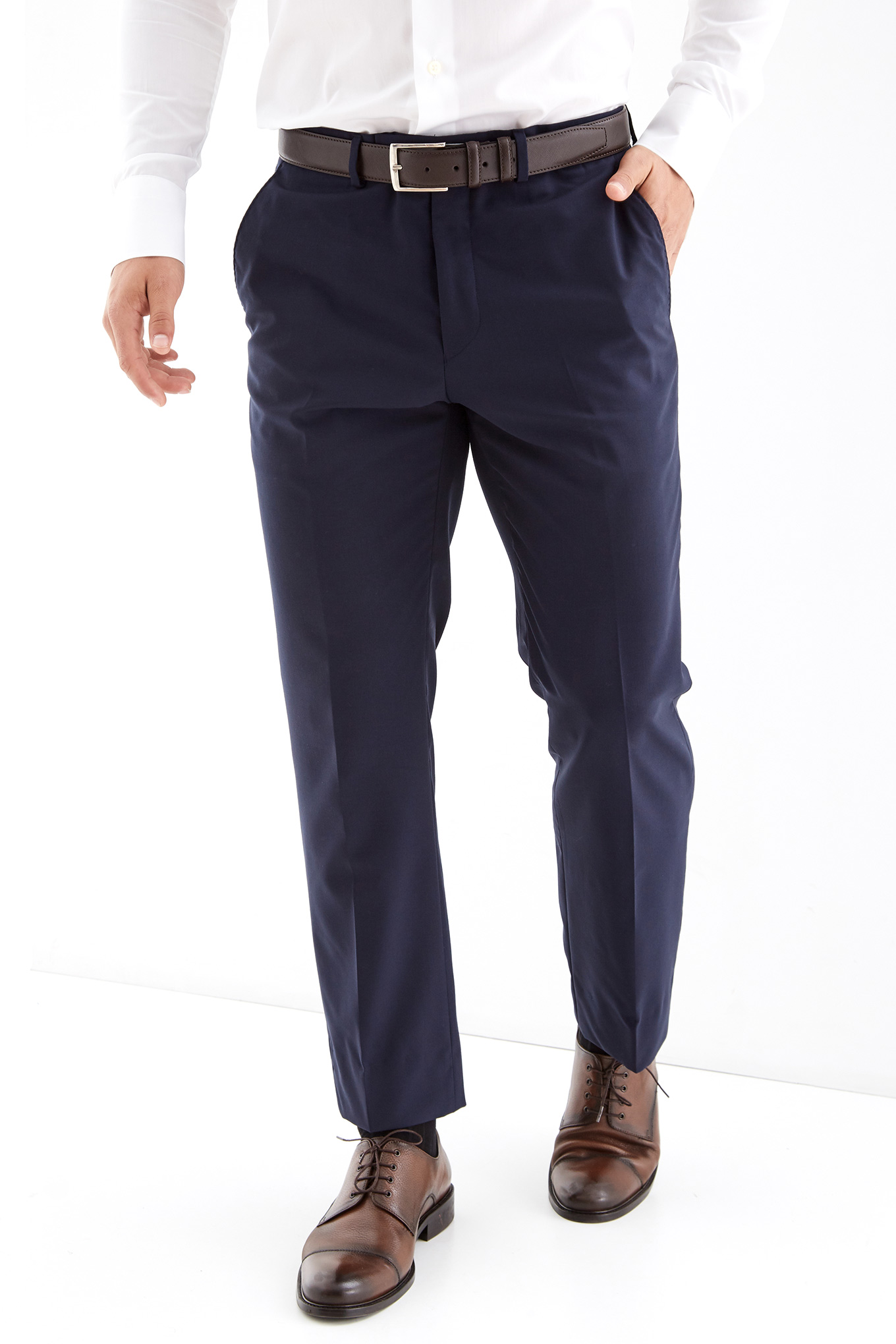 Calças Azul Escuro Classic Homem