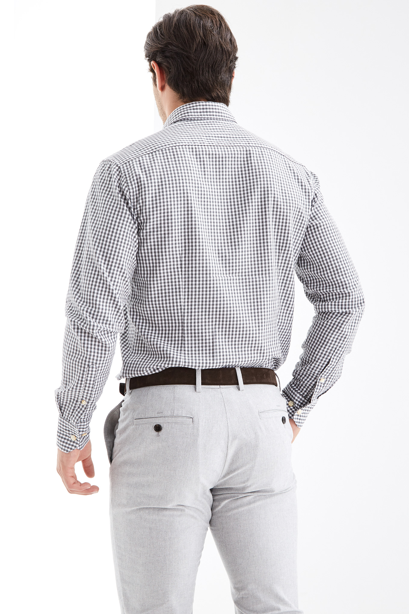 Shirt Grey Casual Man