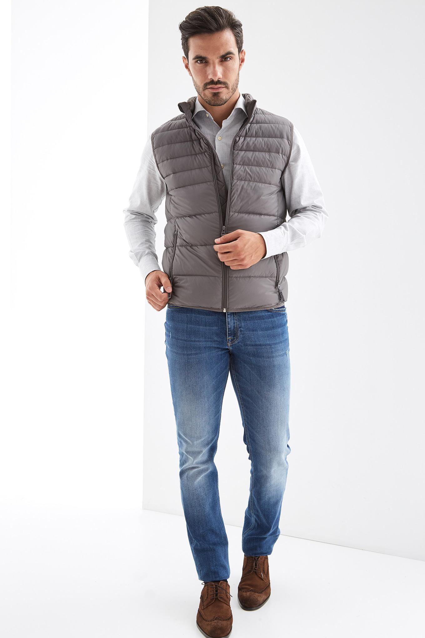 Waist Coat Dark Grey Casual Man