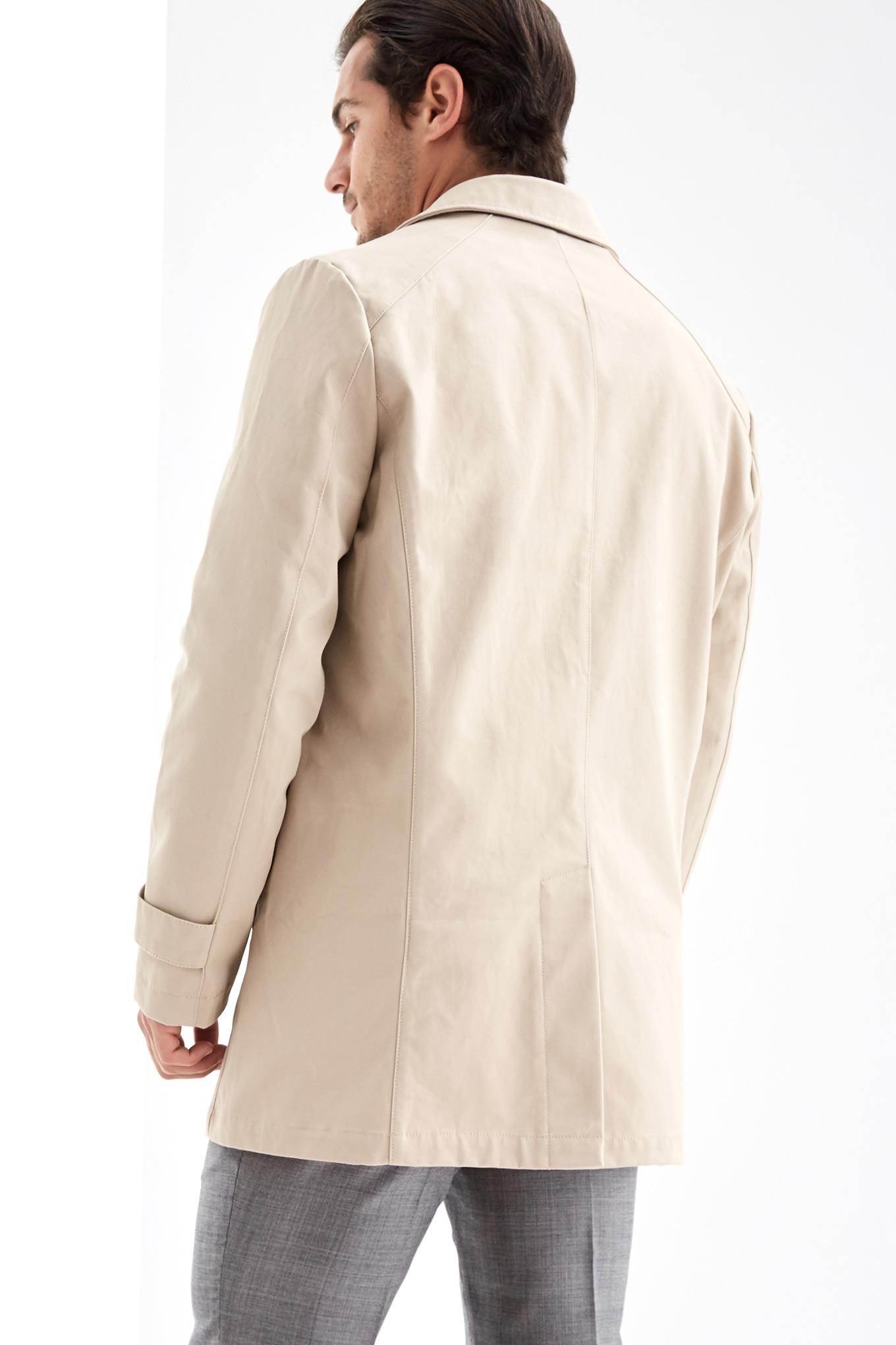 Raincoat Beige Casual Man