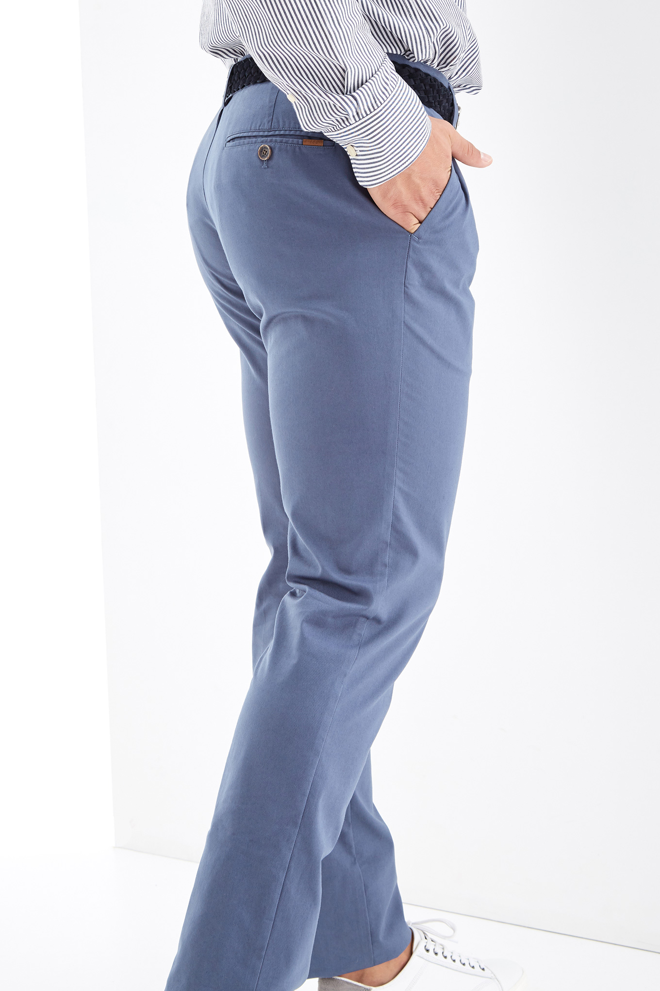 Chino Trousers Medium Blue Sport Man