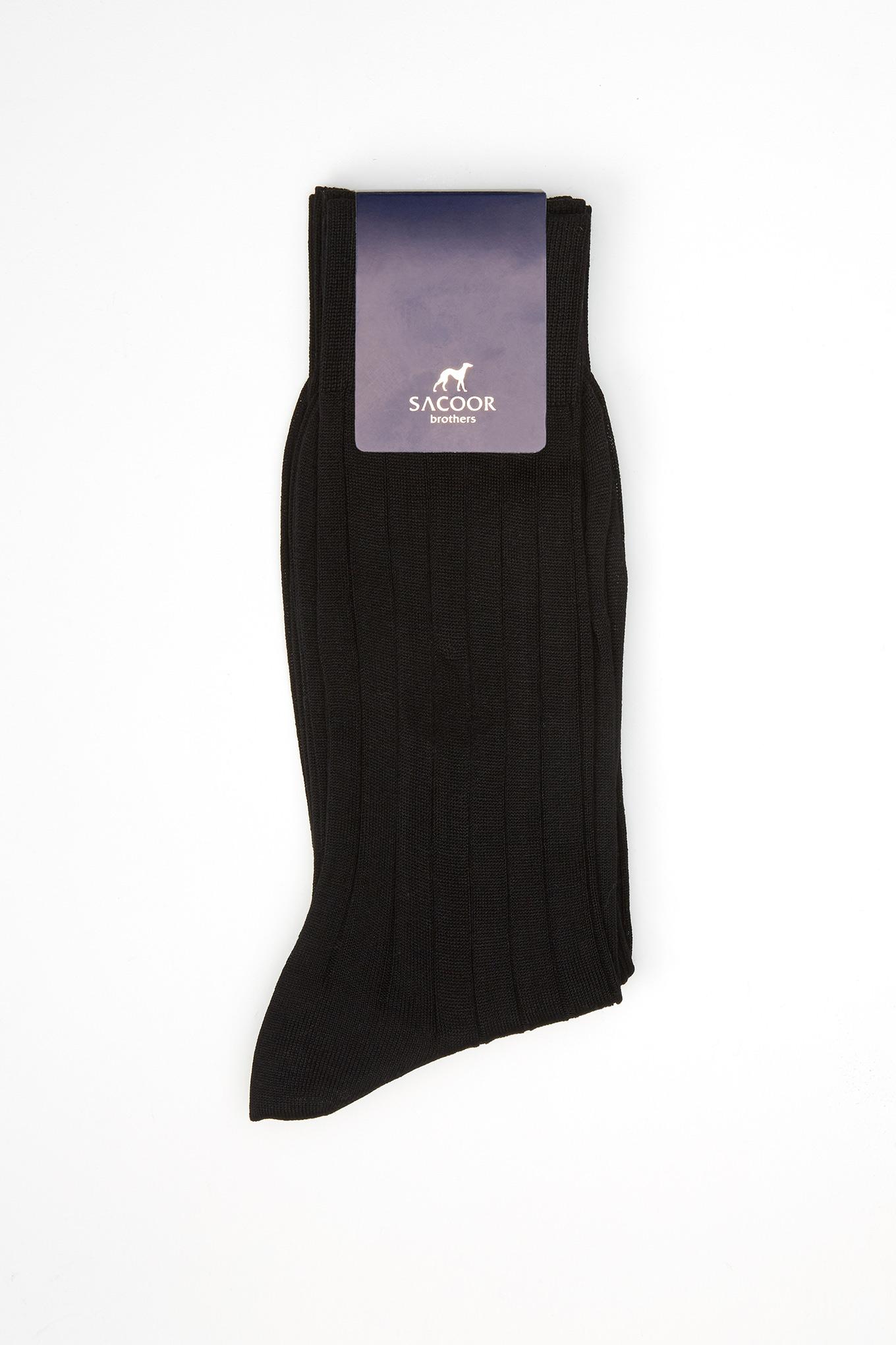 Socks Black Classic Man