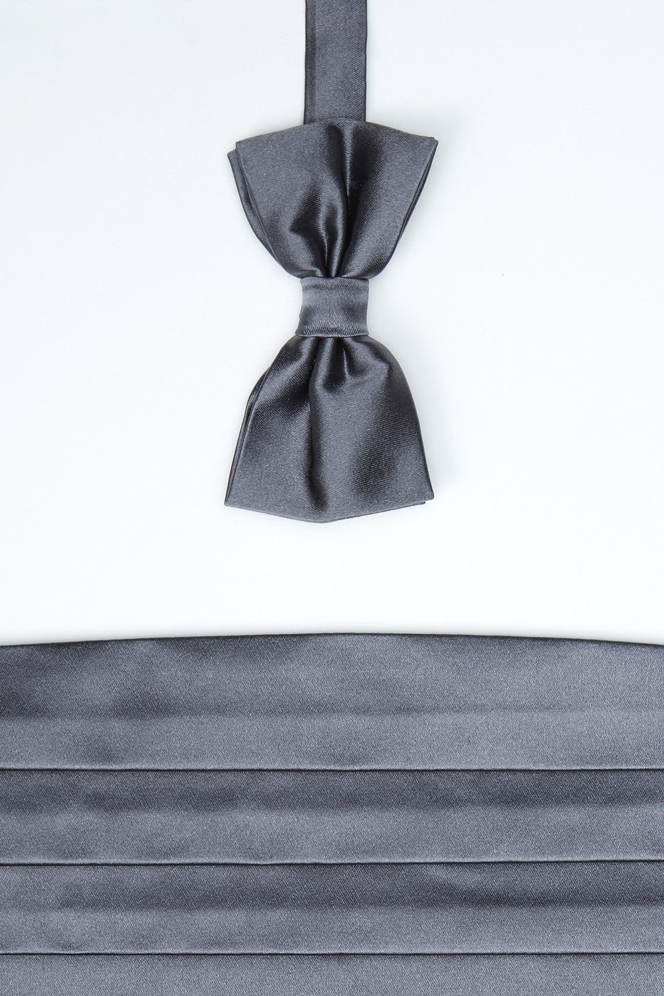 40 Bow Tie & Cummerbund Dark Grey Classic Man