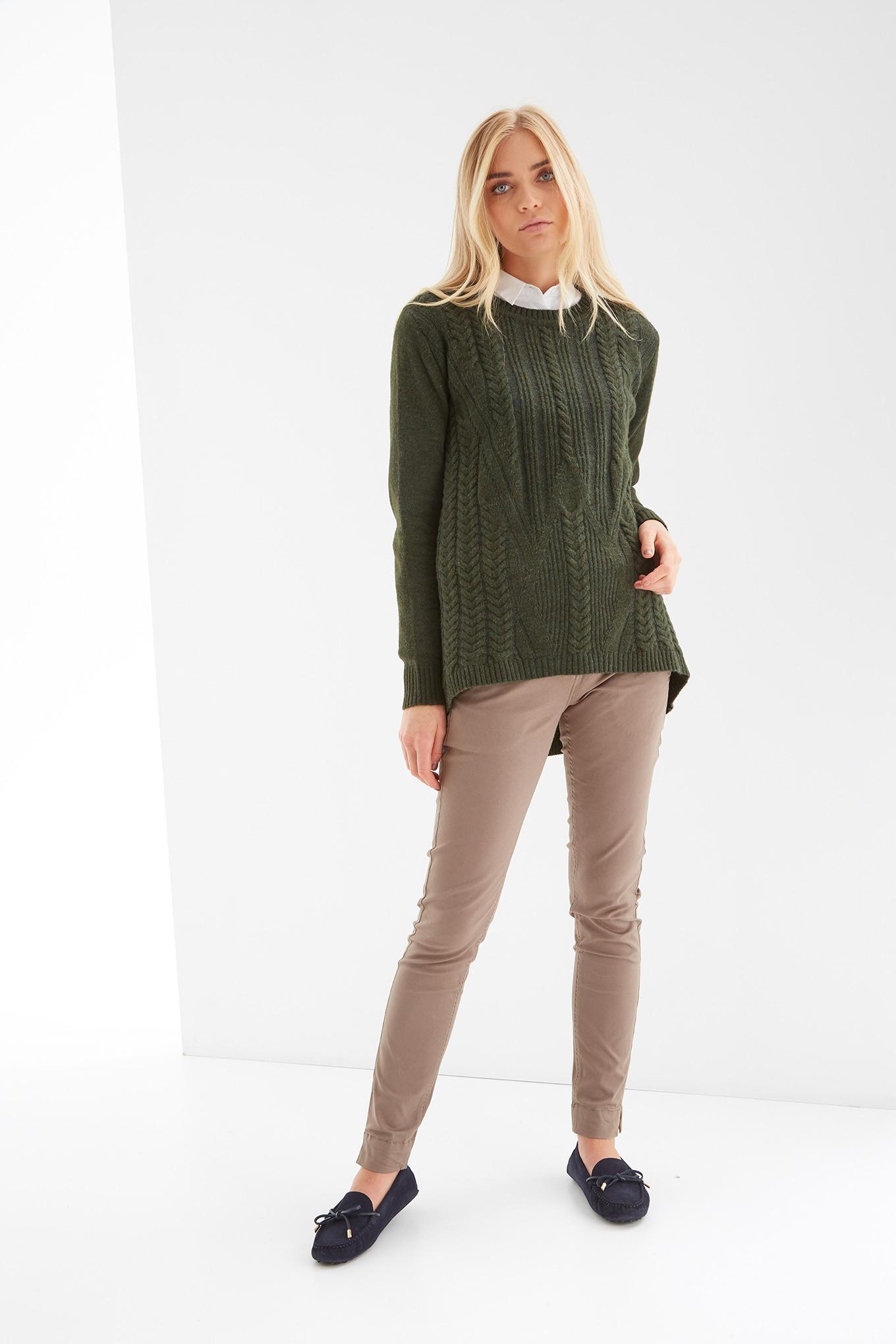 Sweater Khaki Casual Woman